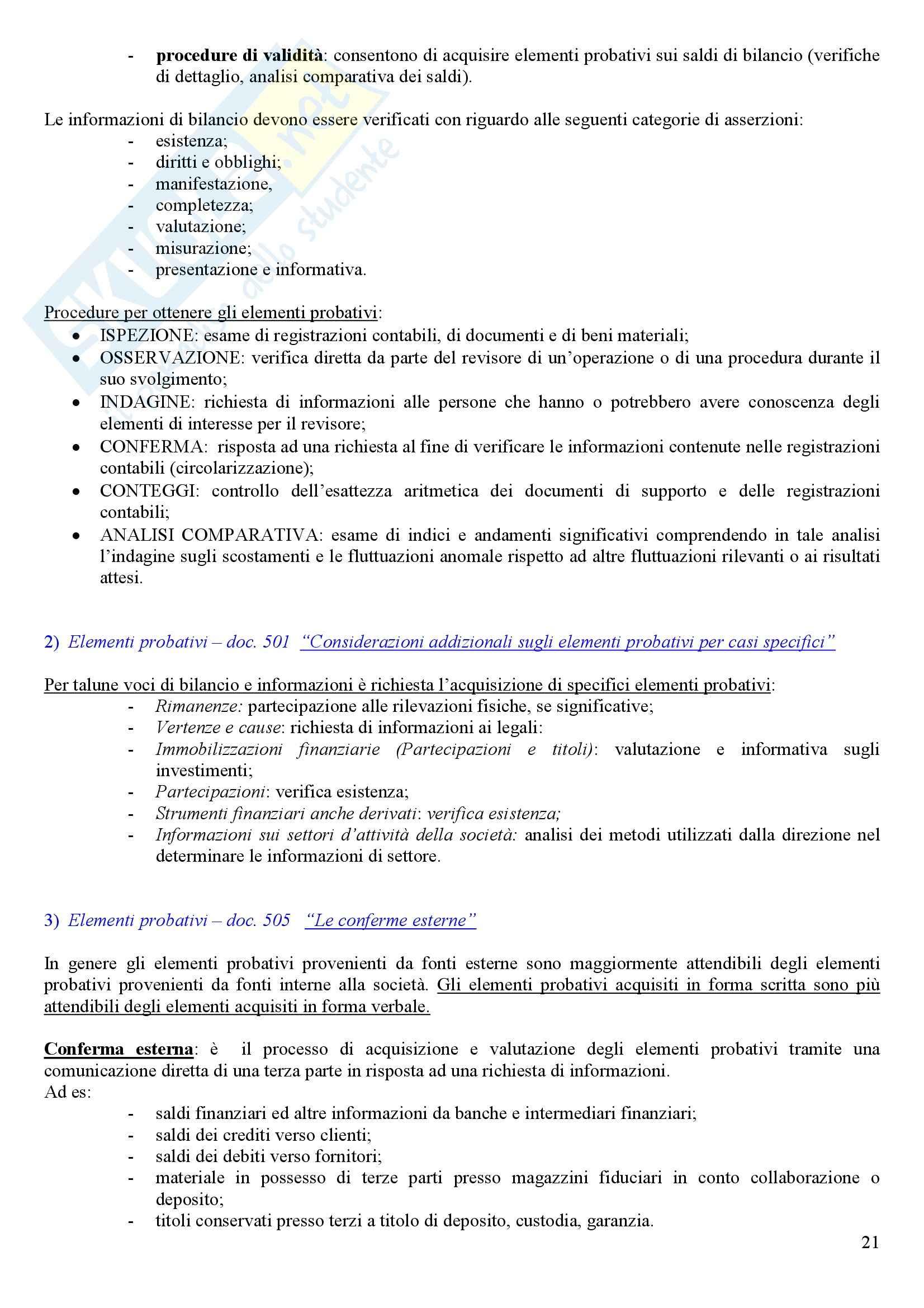 Revisione aziendale - programma Pag. 21