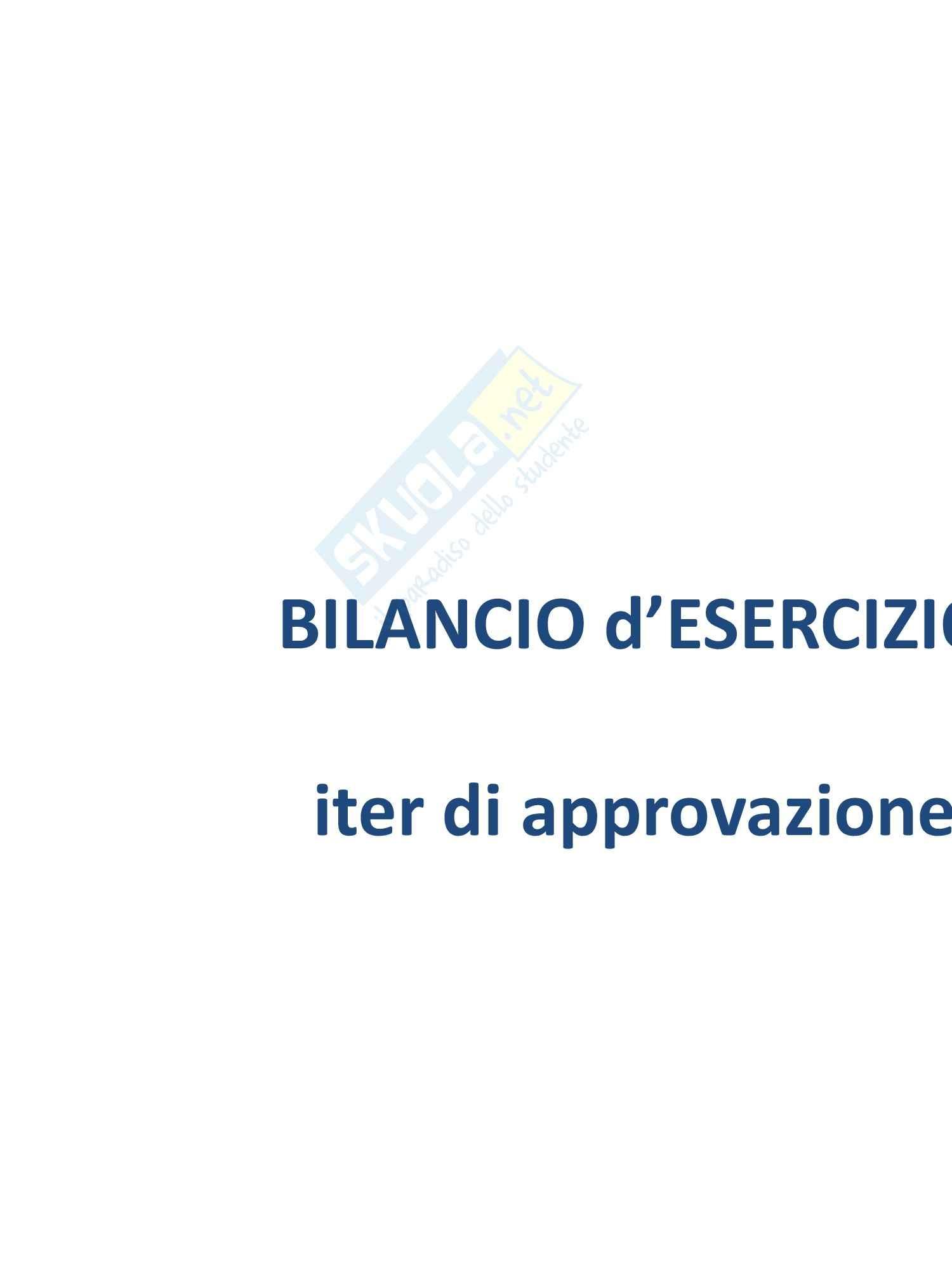 Economia aziendale - Bilancio di esercizio: iter di formazione e approvazione