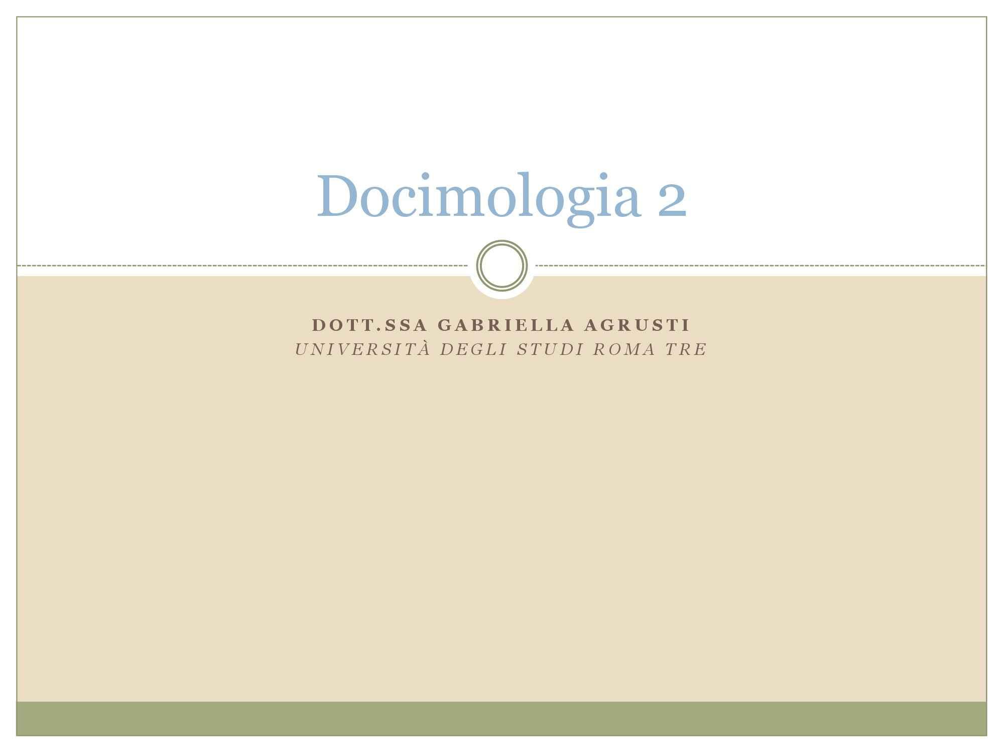 Dispensa di Docimologia, Esami