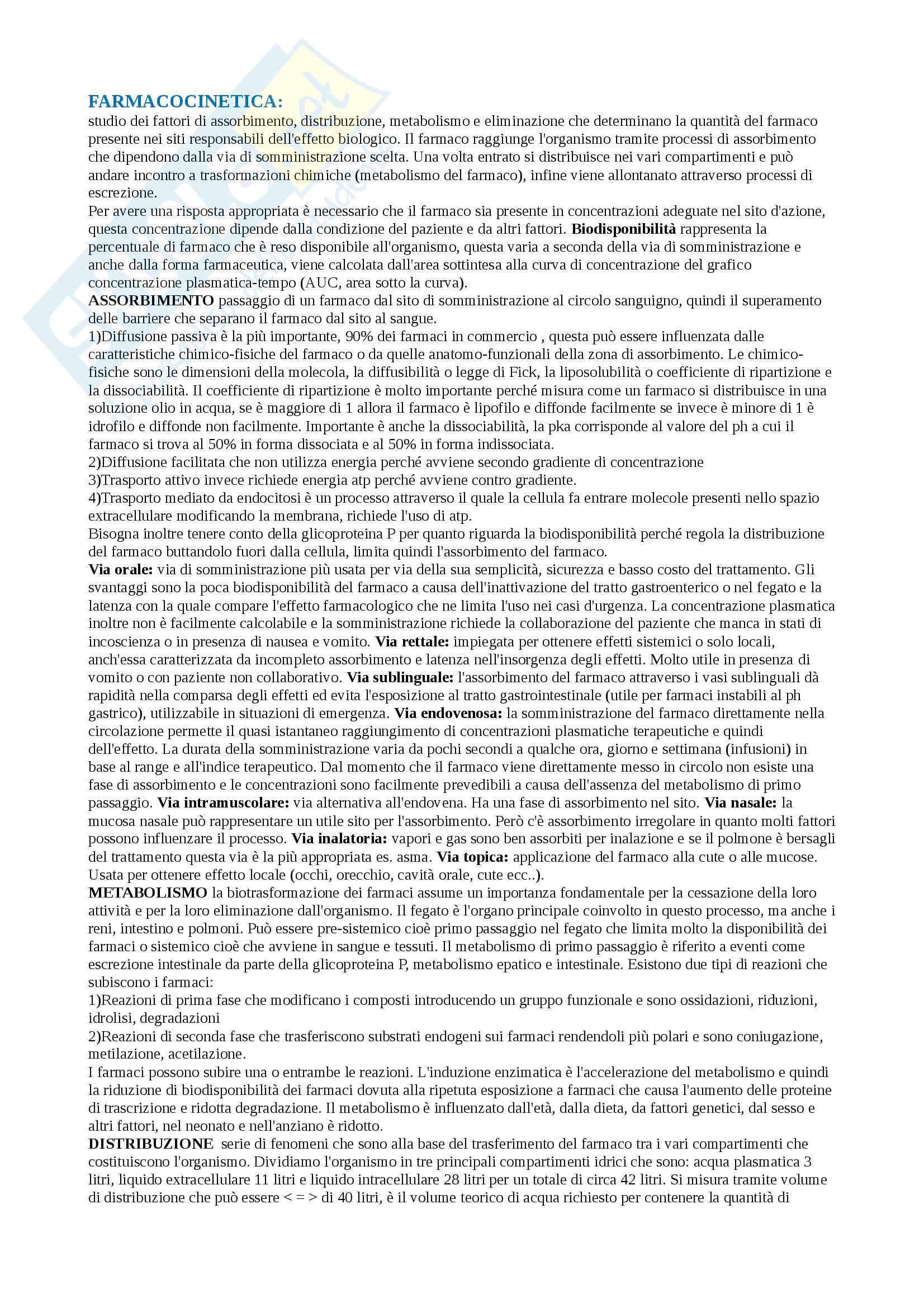 appunto L. Ferraro Farmacologia e farmacoterapia
