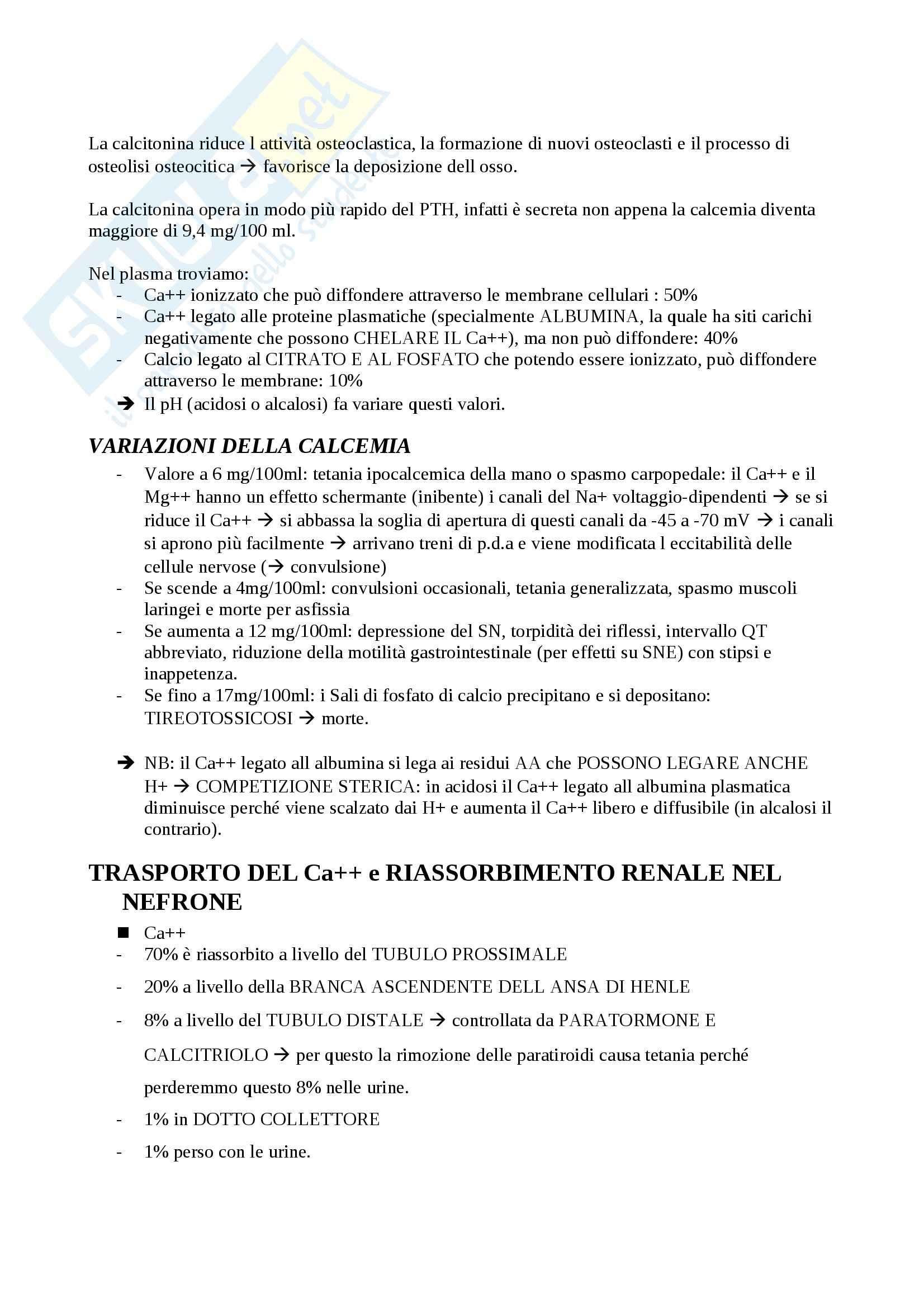 Sistema endocrino, Fisiologia degli apparati Pag. 21