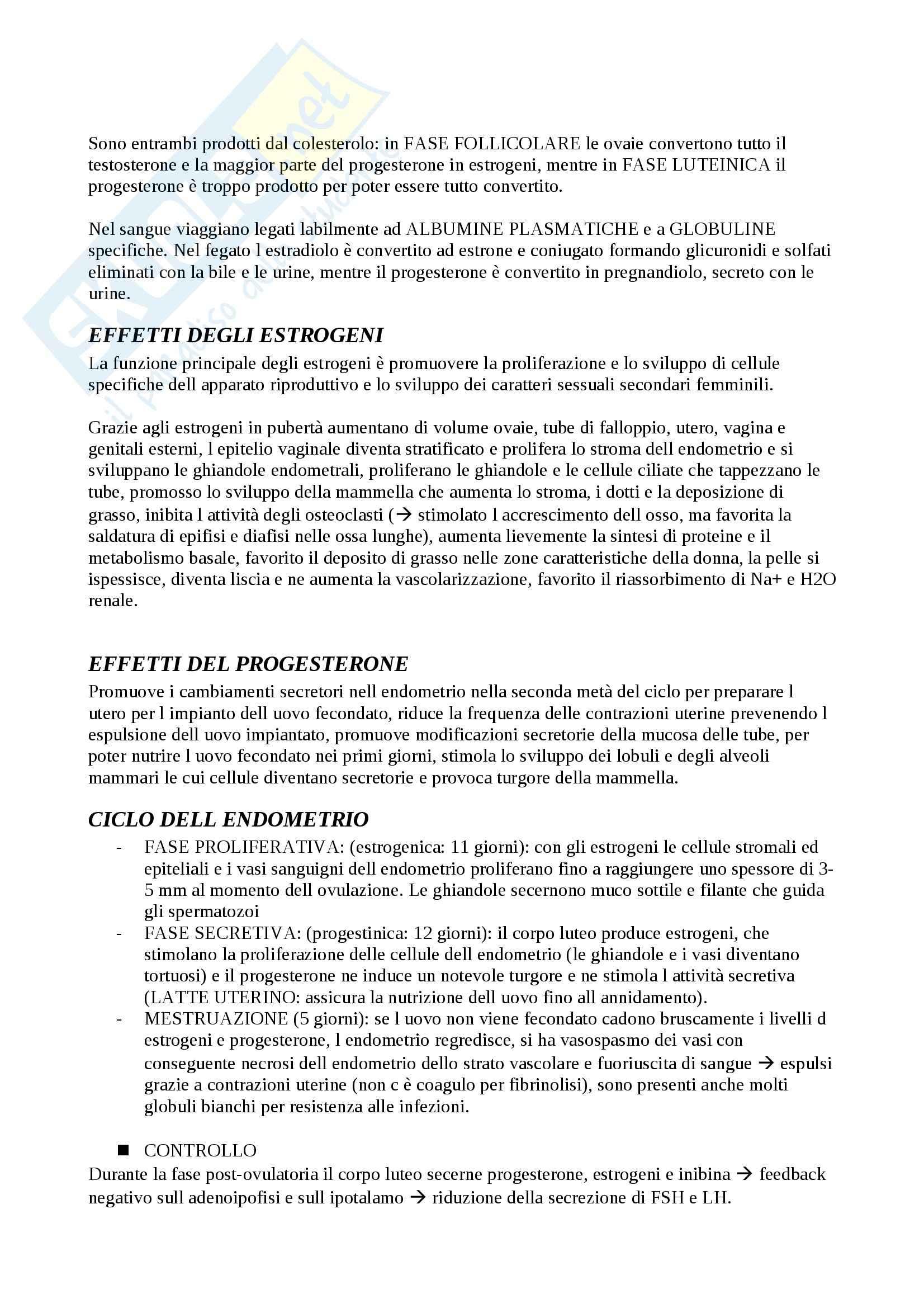 Sistema endocrino, Fisiologia degli apparati Pag. 26