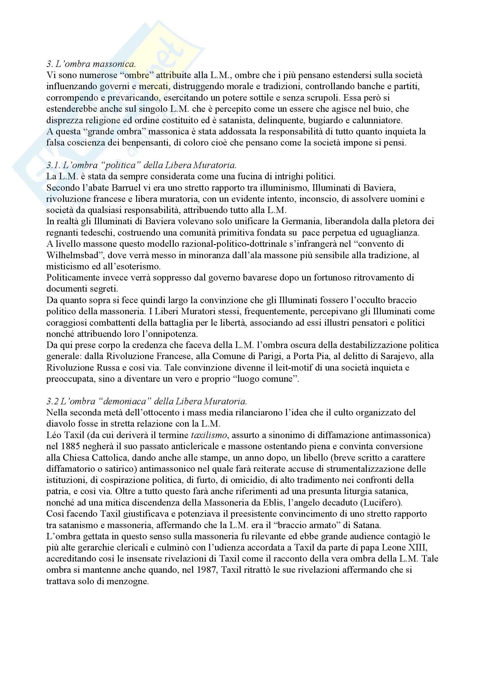 Filosofia delle scienze sociali - Esoterismo e Massoneria Pag. 2