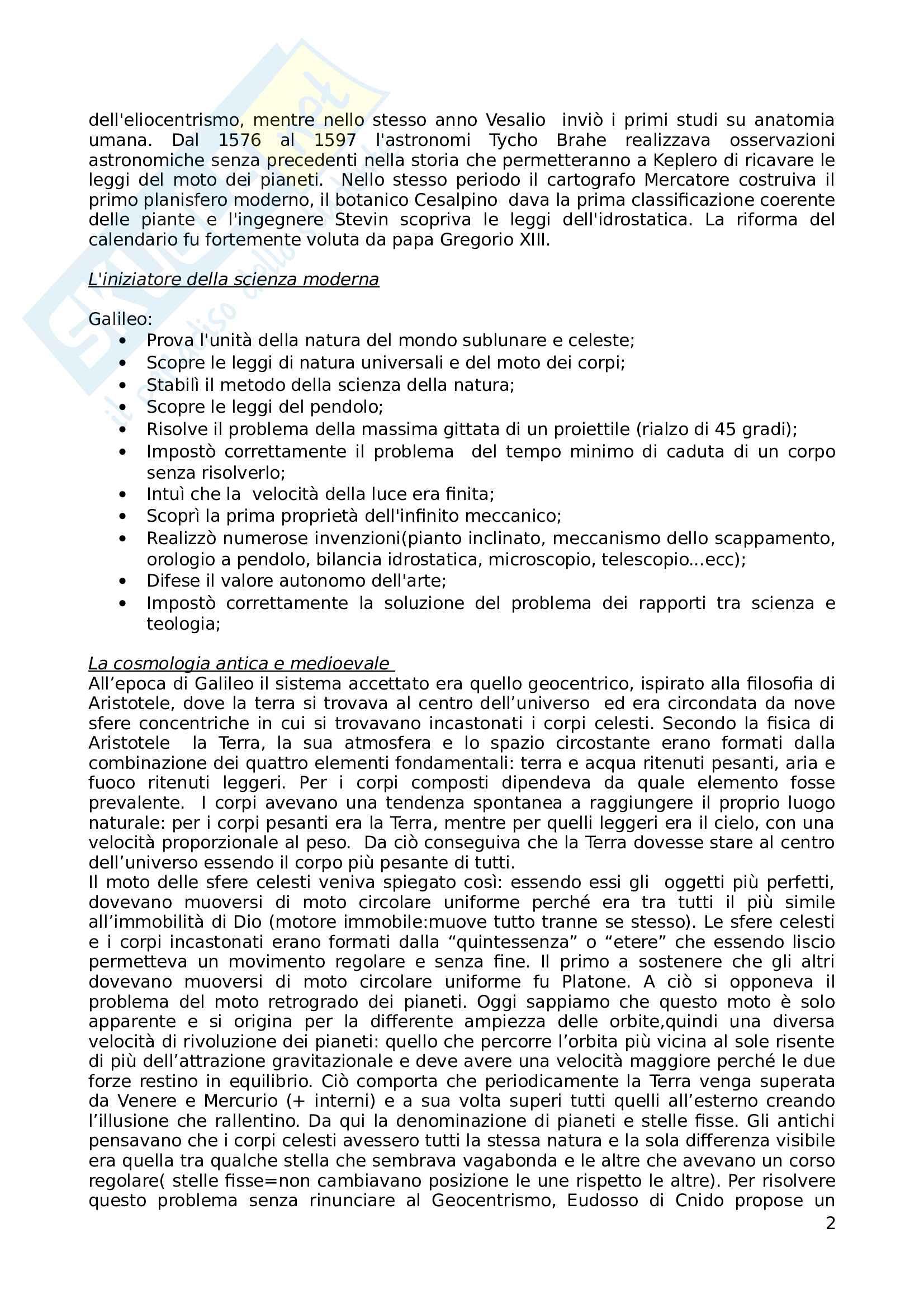 Riassunto esame Filosofia della Scienza, prof. Musso, libro consigliato La Scienza e l'Idea di Ragione Pag. 2