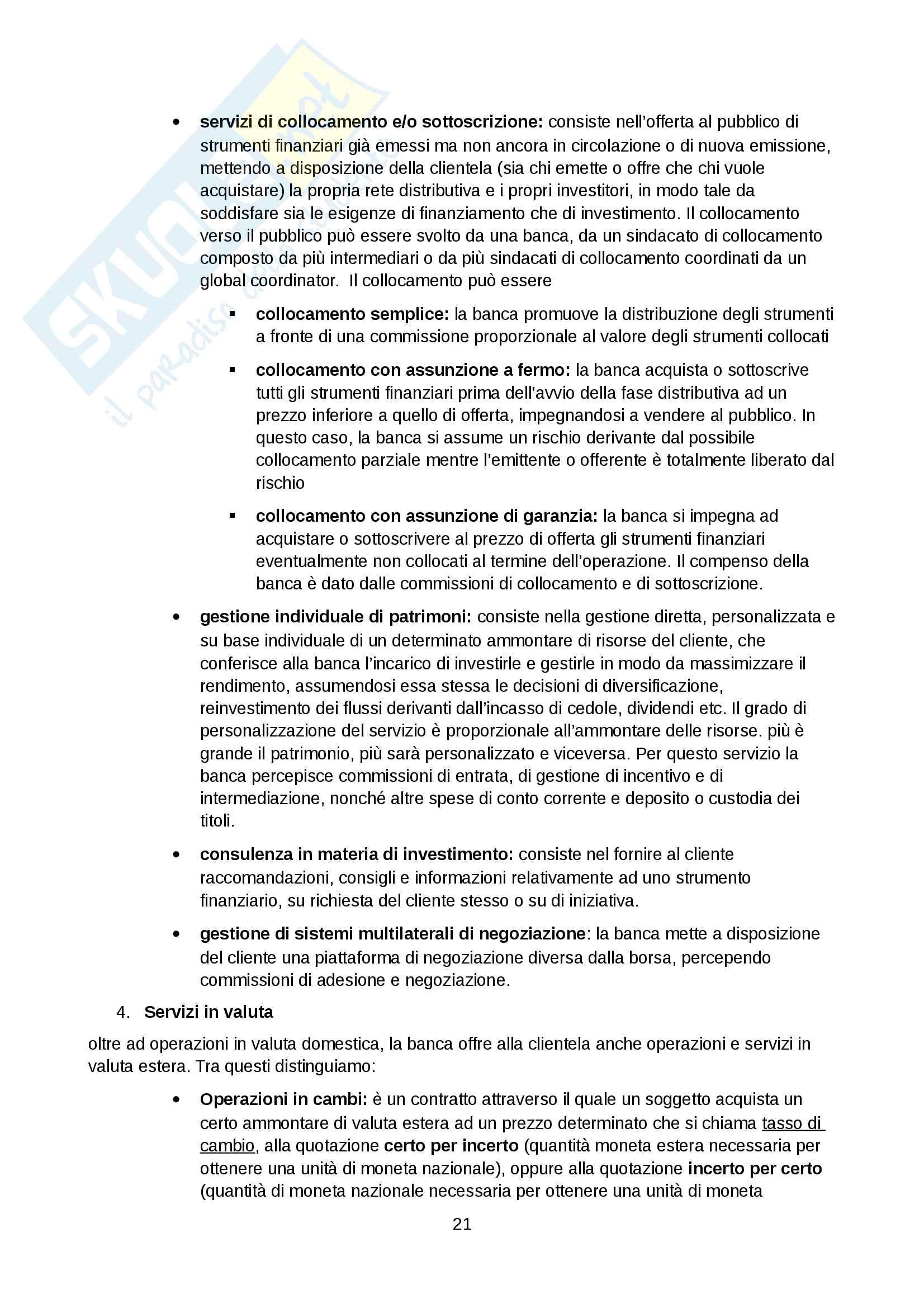 Economia e gestione della banca Tutino Pag. 21