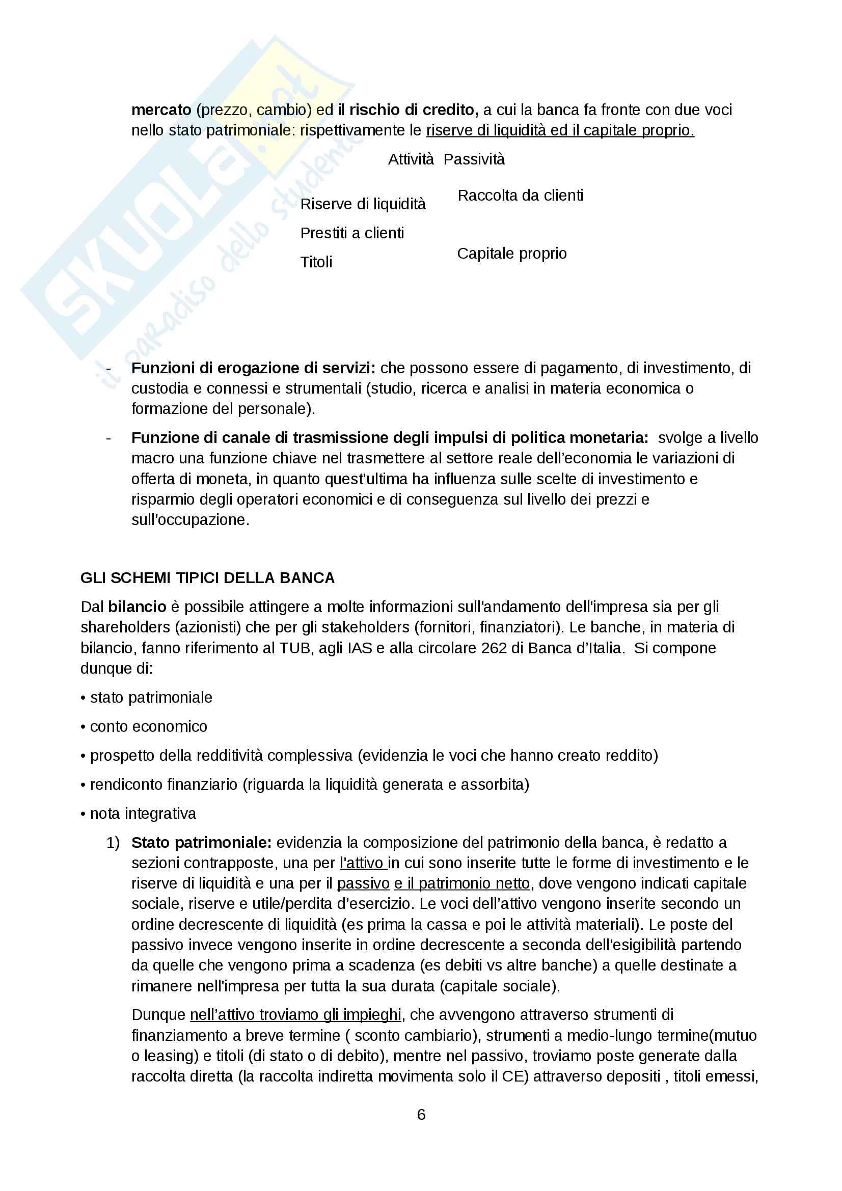 Economia e gestione della banca Tutino Pag. 6