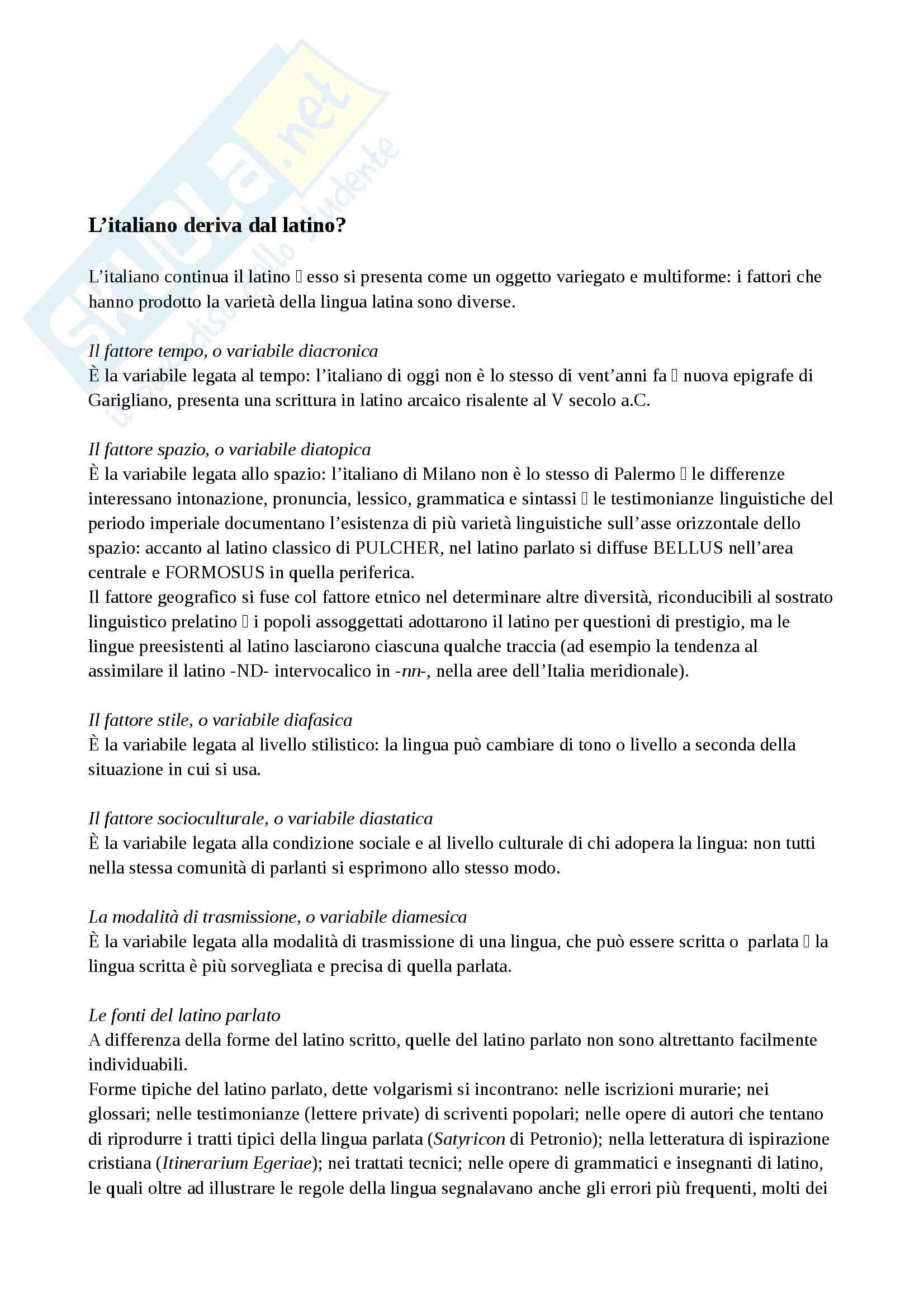 Riassunto esame Storia, prof. Colombo, libro consigliato Nuovi lineamenti di grammatica storica dell'italiano, Patota