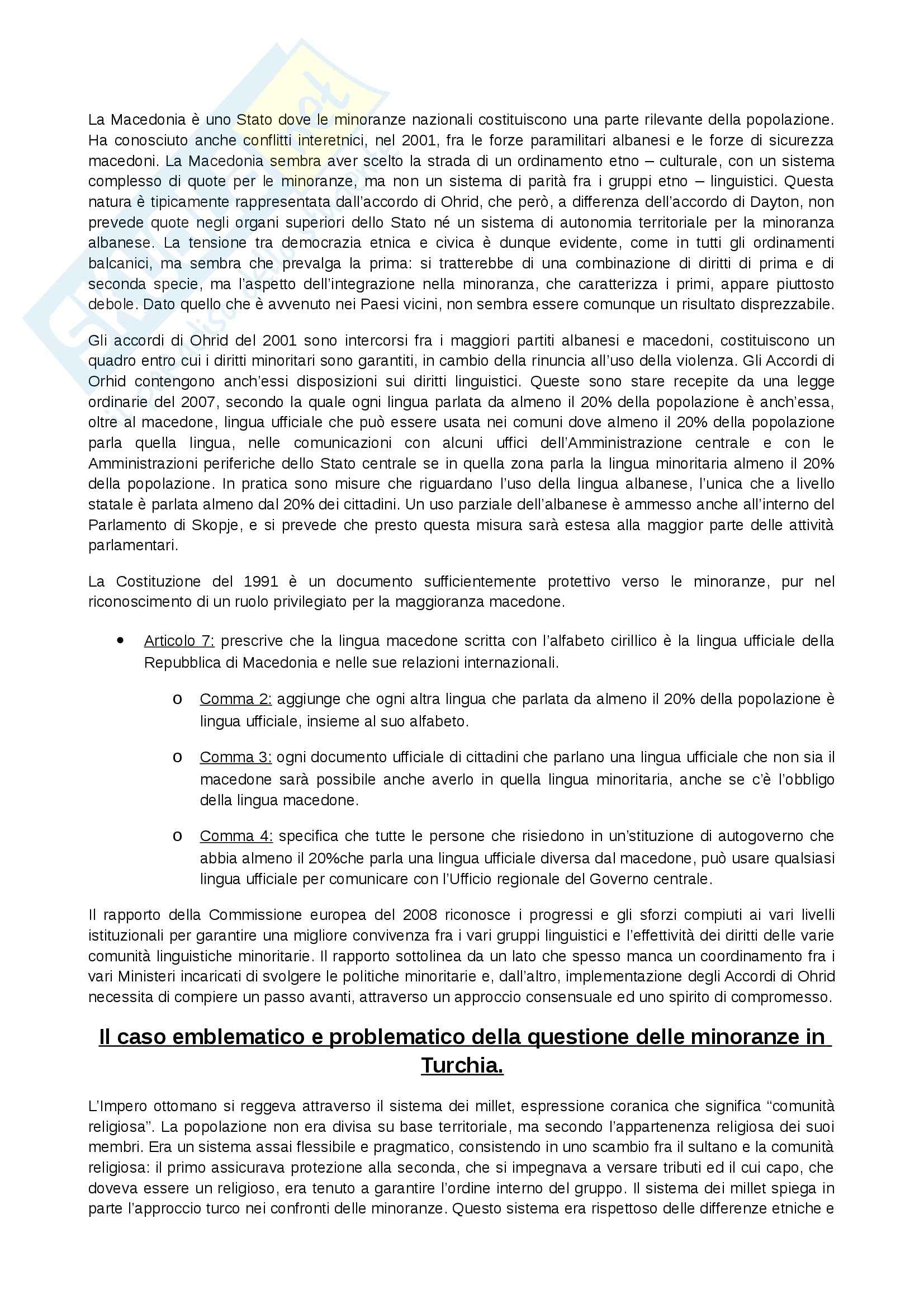 Riassunto esame Diritto alla lingua in Europa, prof. Paolo, libro consigliato I diritti linguistici, Poggeschi Pag. 21