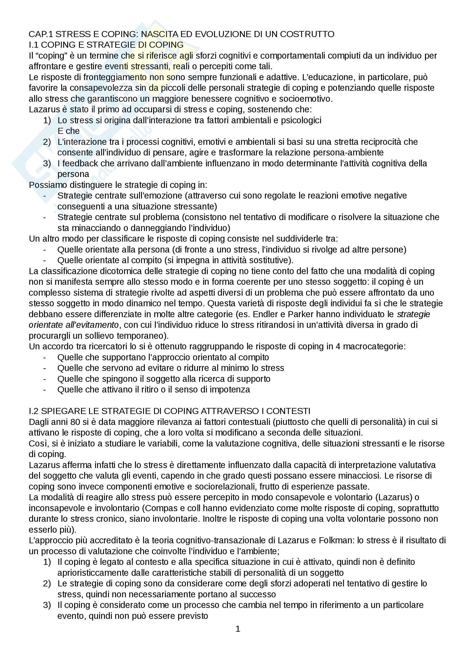 appunto S. De Stasio Psicologia dello sviluppo cognitivo, affettivo e relazionale tipico e atipico