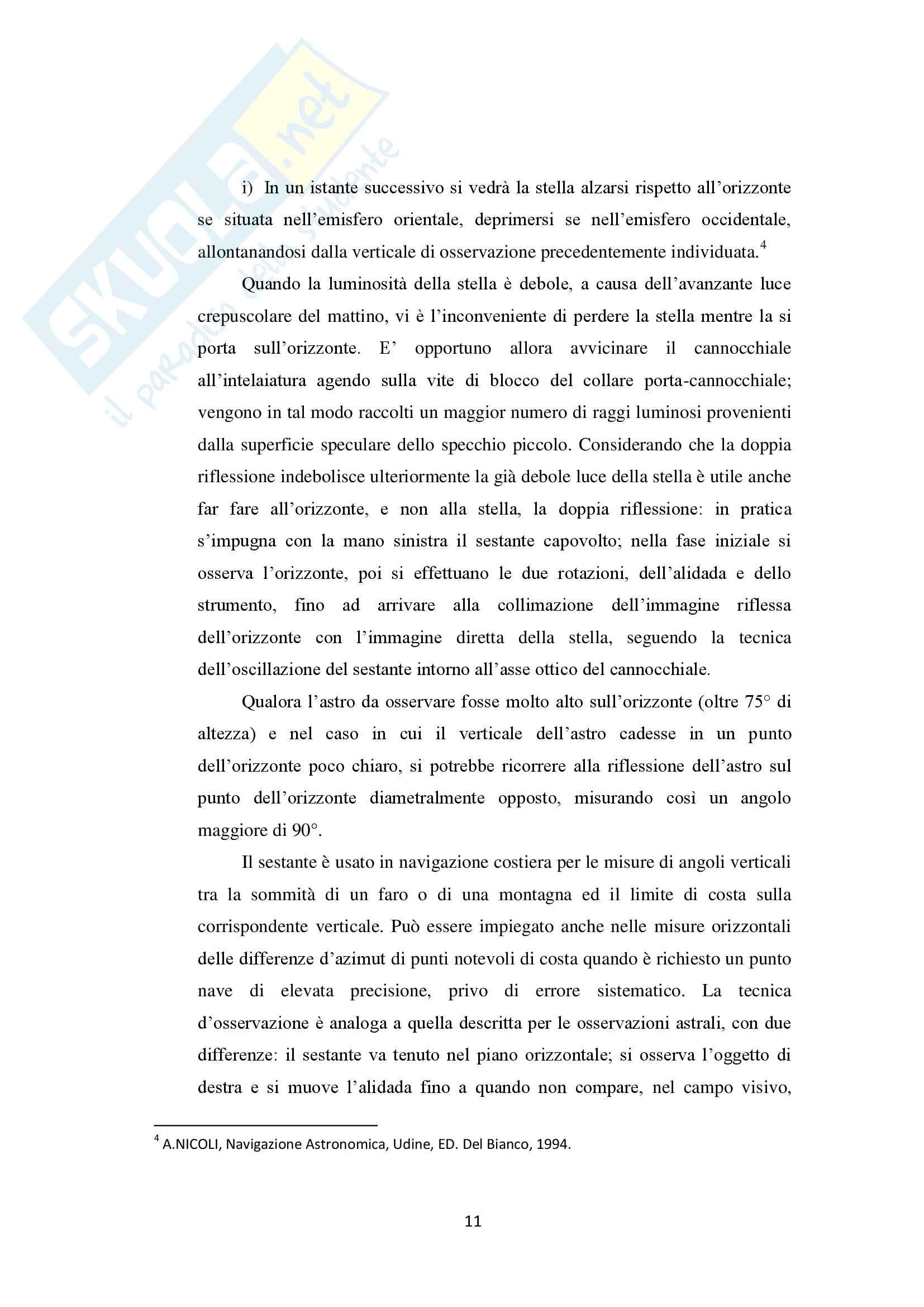 Strumenti della navigazione stimata nella storia delle scienze nautiche Pag. 11