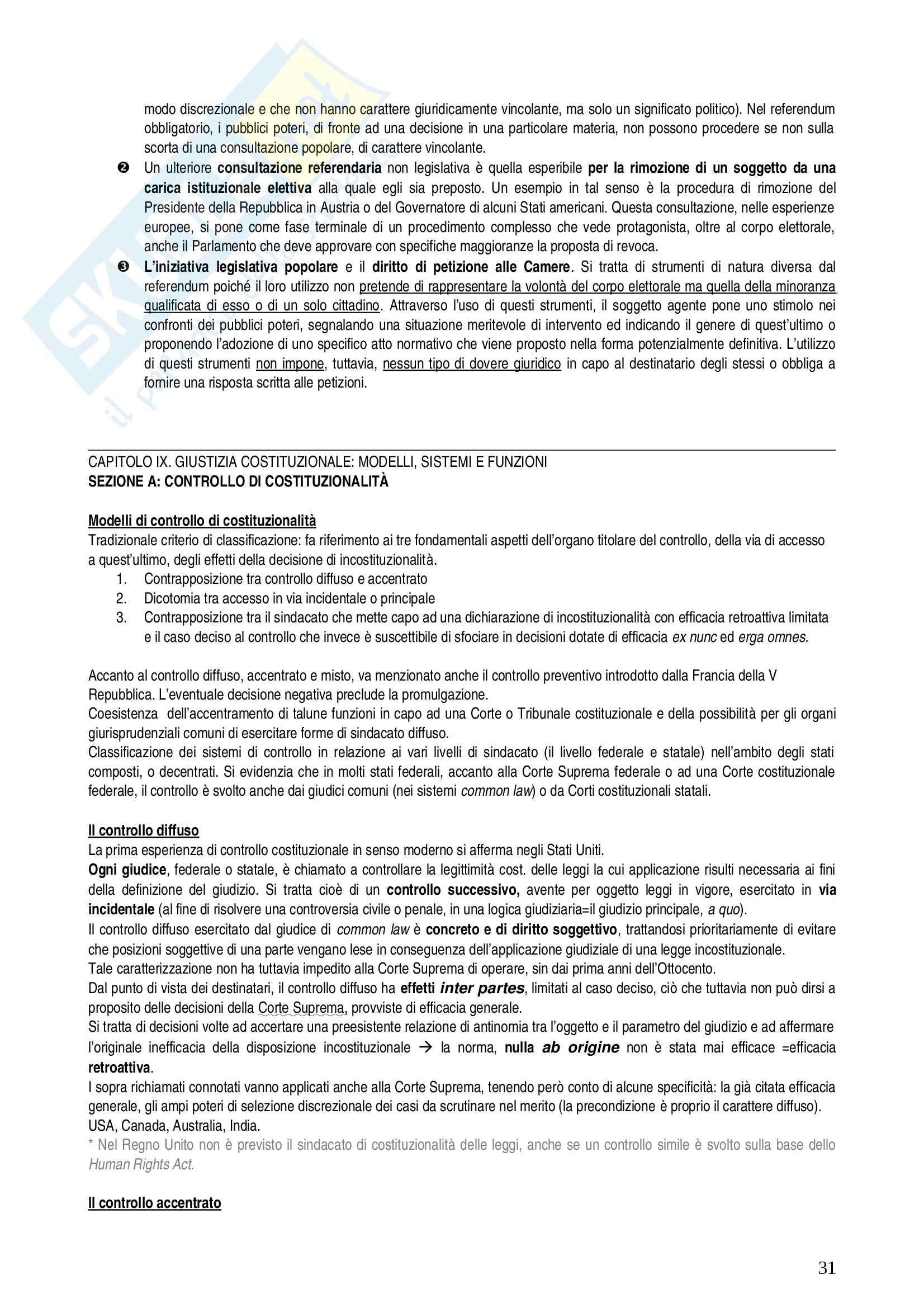 Riassunto esame diritto, prof. Nicolini, libro consigliato Atlante di diritto pubblico comparato, Ferrari Pag. 31