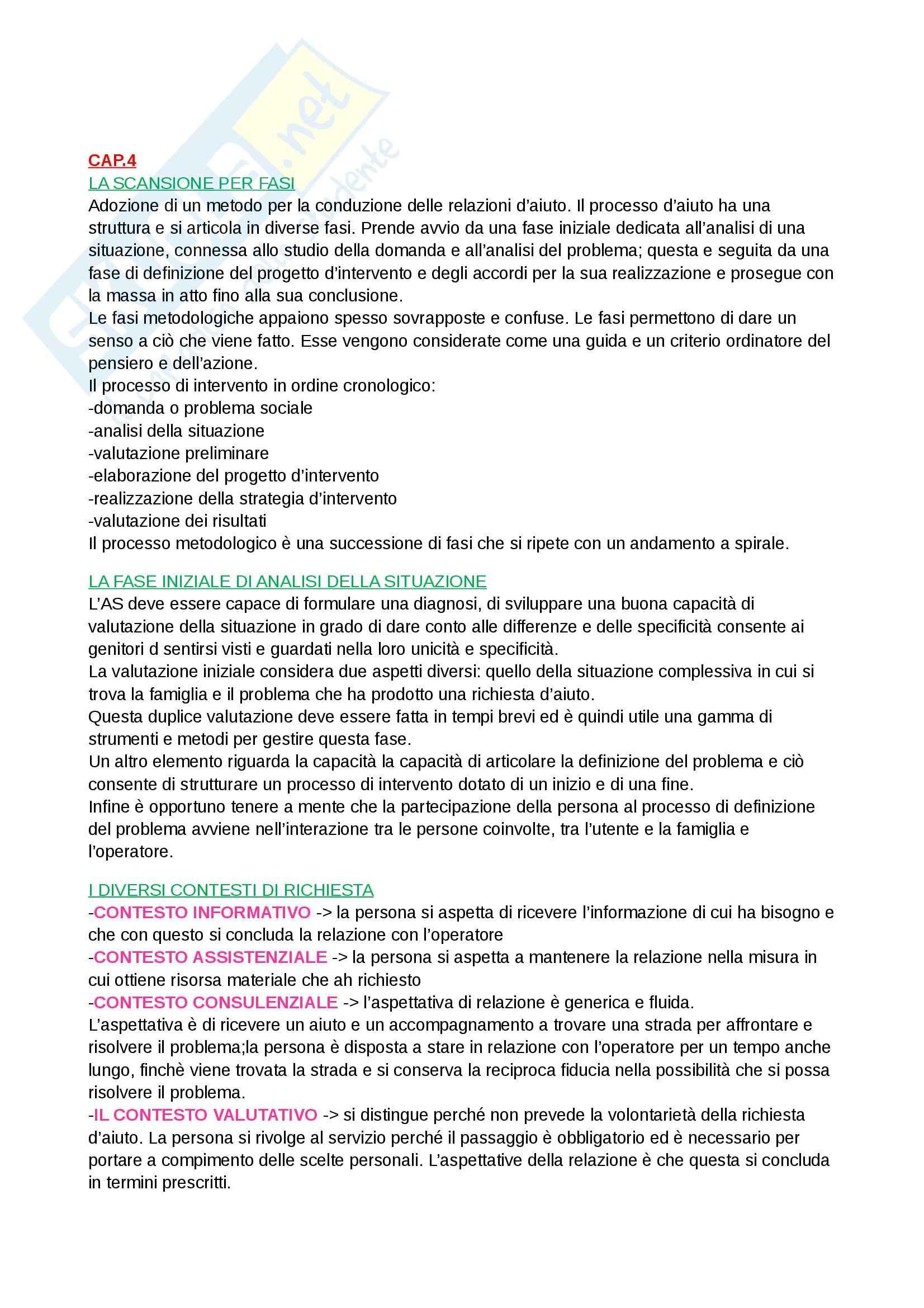 Riassunto esame Metodi e tecniche del servizio sociale, prof. Bertotti, libro consigliato Bambini e famiglie in difficoltà, Bertotti