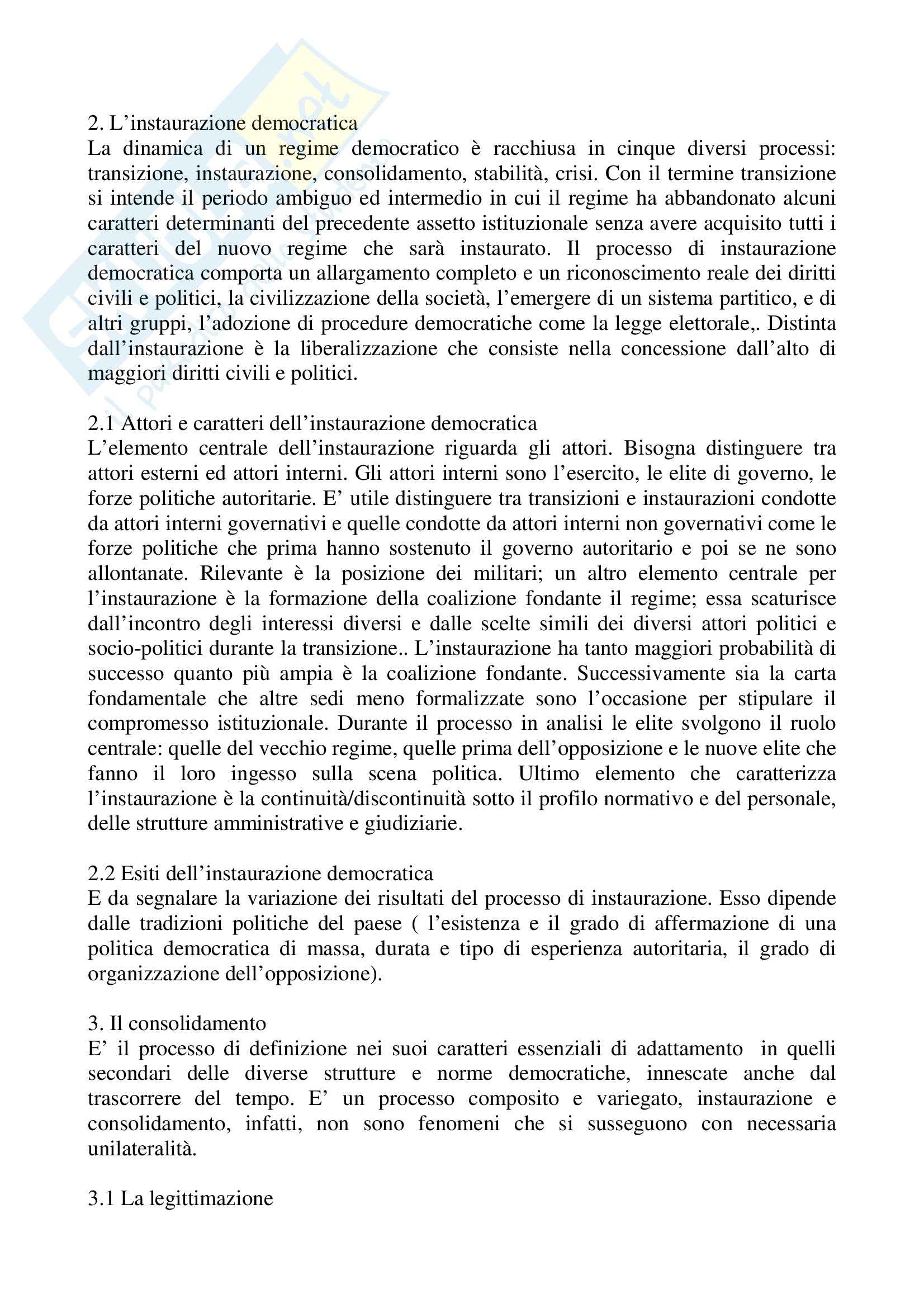 Riassunto esame Scienza Politica, prof. Tebaldi, libro consigliato Fondamenti di scienza politica, Cotta, Della Porta, Morlino Pag. 2