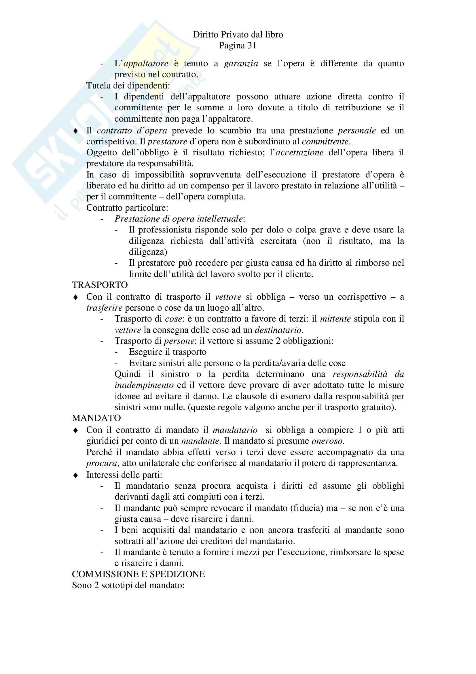 Riassunto esame Diritto Privato, prof. Tagliapietra, libro consigliato Diritto privato, Zatti, Colussi Pag. 31