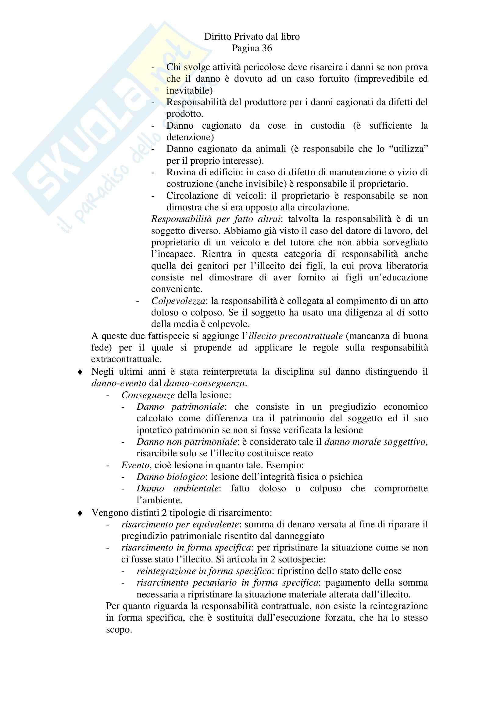 Riassunto esame Diritto Privato, prof. Tagliapietra, libro consigliato Diritto privato, Zatti, Colussi Pag. 36