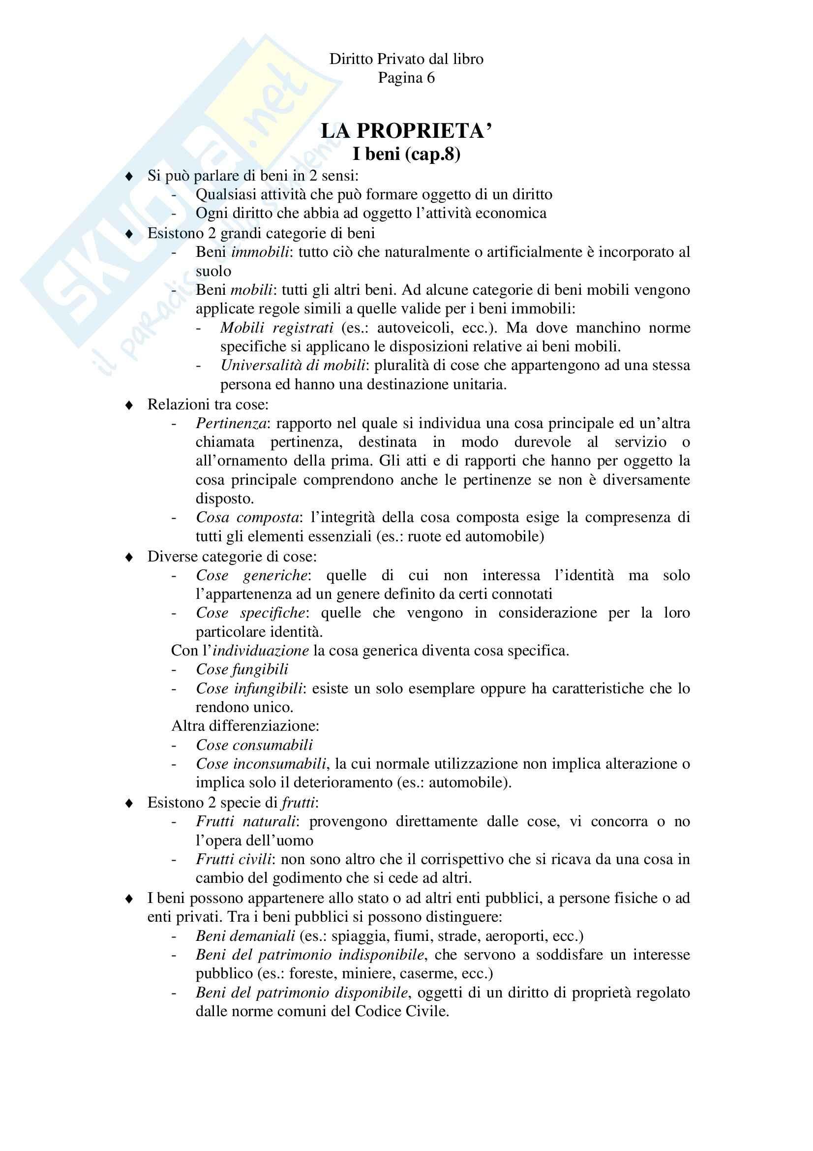 Riassunto esame Diritto Privato, prof. Tagliapietra, libro consigliato Diritto privato, Zatti, Colussi Pag. 6