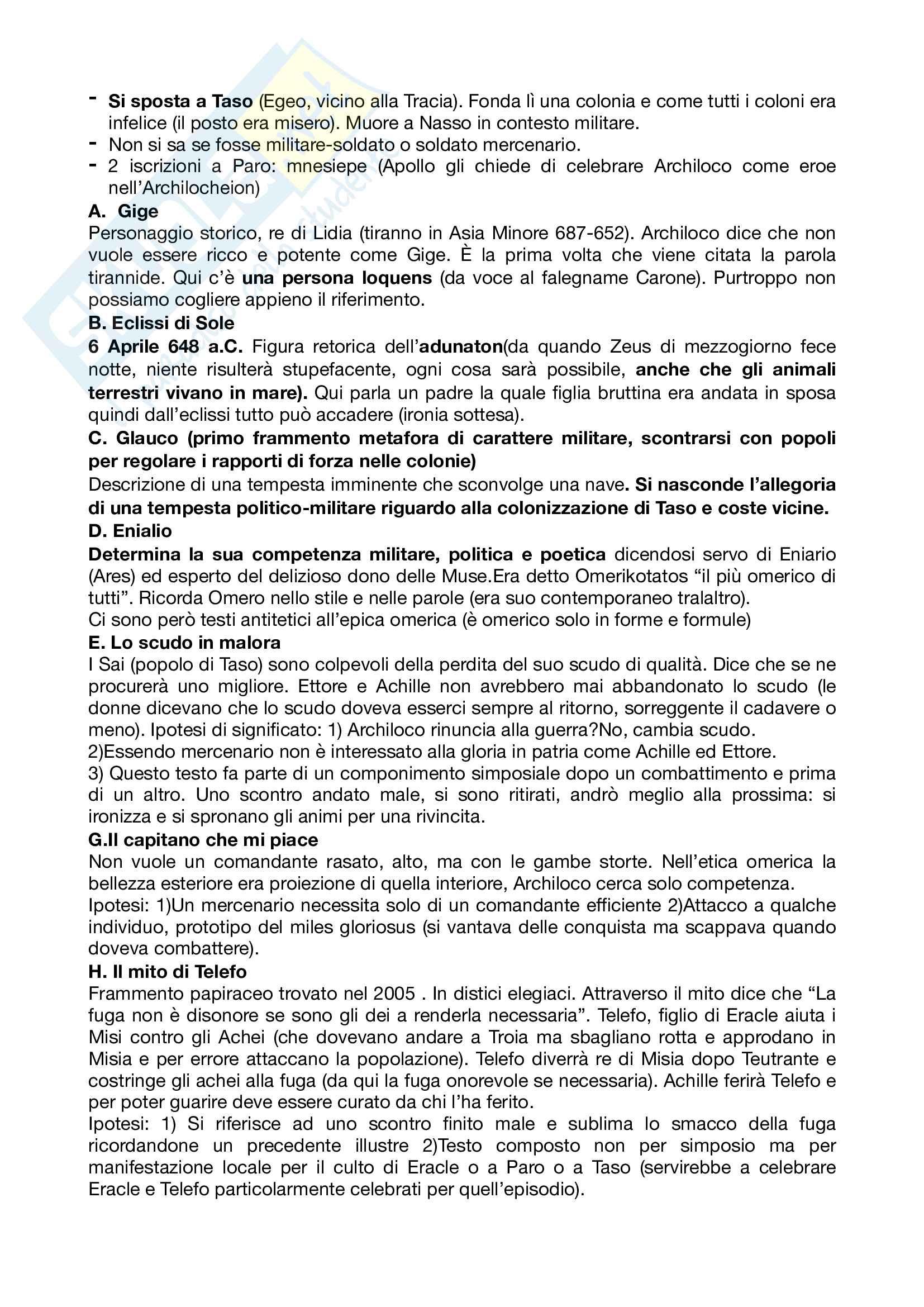 Riassunto esame letteratura greca, prof Andreassi, libro consigliato Letteratura greca Il Mulino, Porro, Lapini Pag. 11