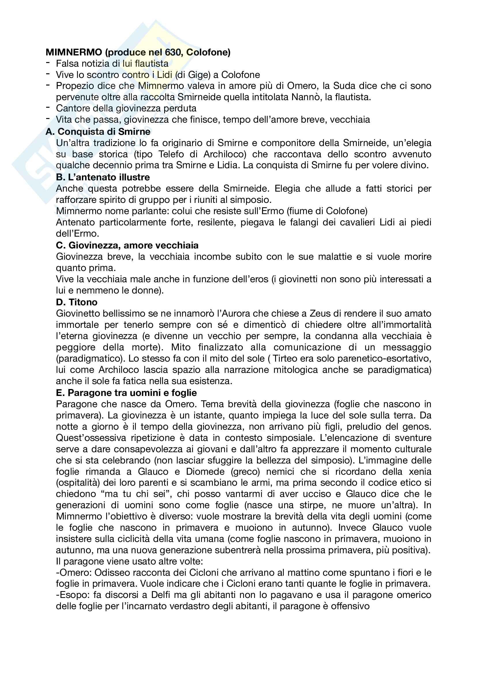 Riassunto esame letteratura greca, prof Andreassi, libro consigliato Letteratura greca Il Mulino, Porro, Lapini Pag. 16