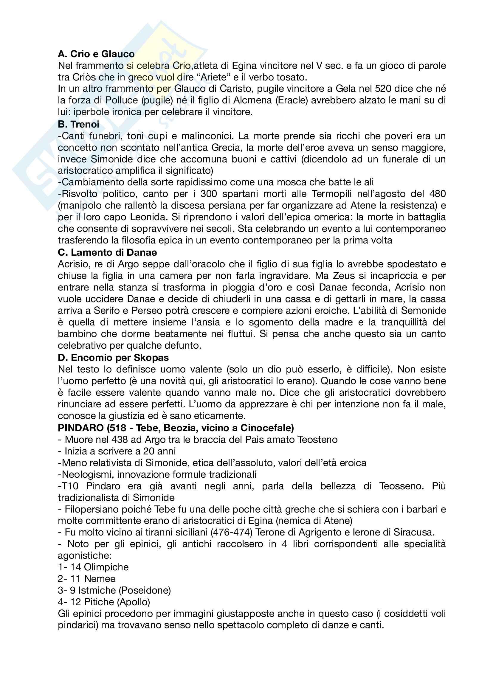 Riassunto esame letteratura greca, prof Andreassi, libro consigliato Letteratura greca Il Mulino, Porro, Lapini Pag. 26