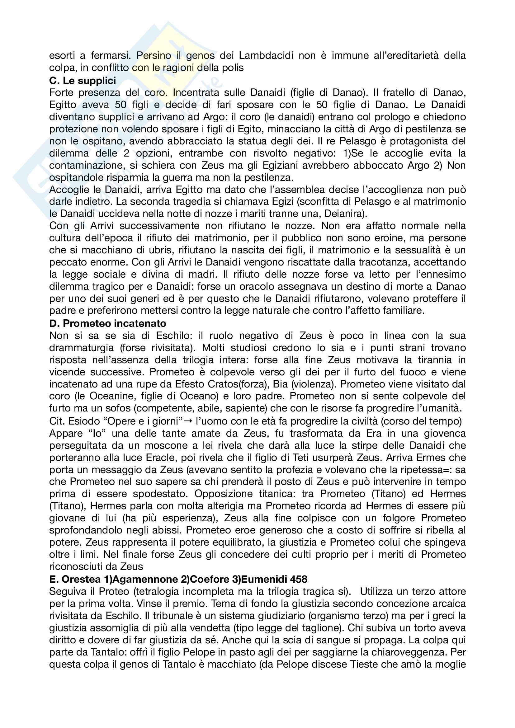 Riassunto esame letteratura greca, prof Andreassi, libro consigliato Letteratura greca Il Mulino, Porro, Lapini Pag. 31