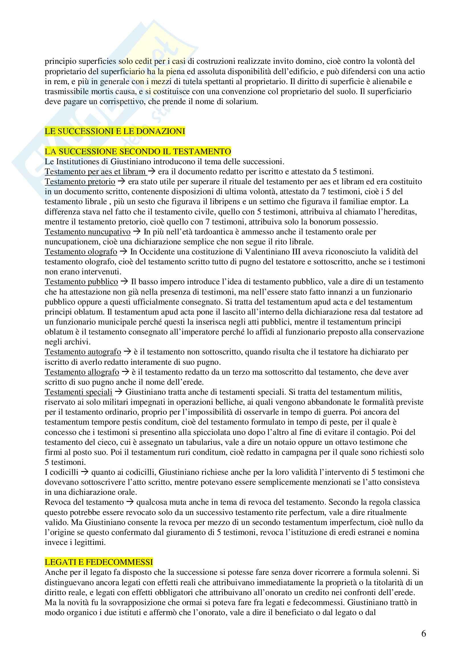 Storia del diritto privato romano - Appunti Pag. 6