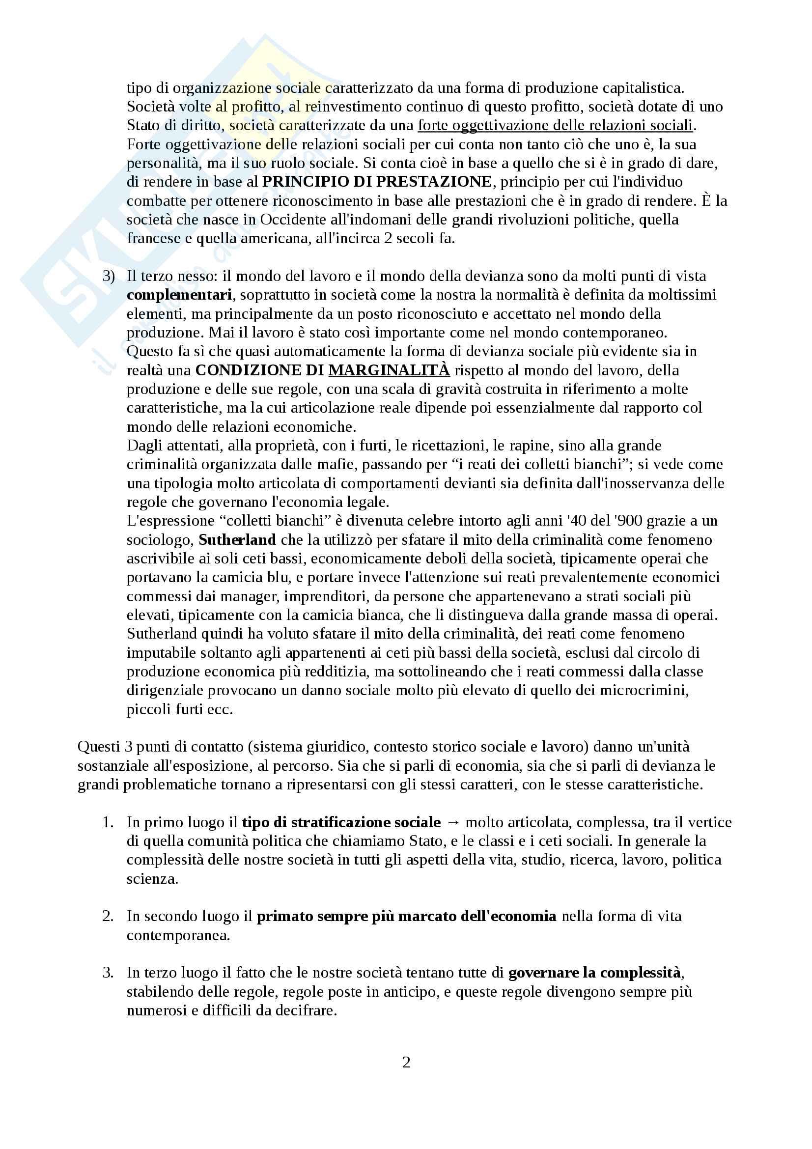 Sociologia della Devianza Pag. 2