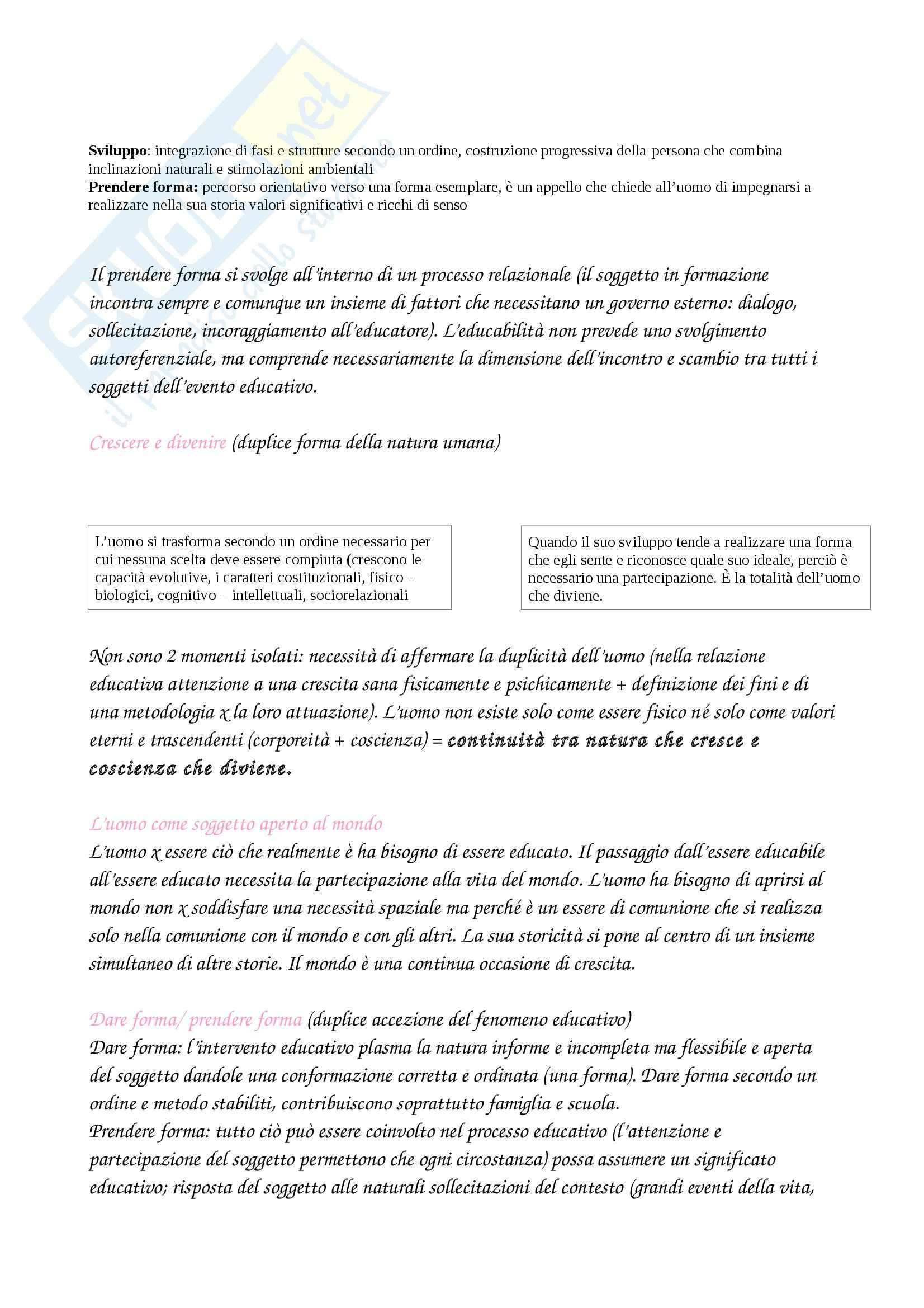 Riassunto esame Pedagogia, prof. Chiosso, libro consigliato Processi educativi e progettualità pedagogica, Cambi Pag. 16