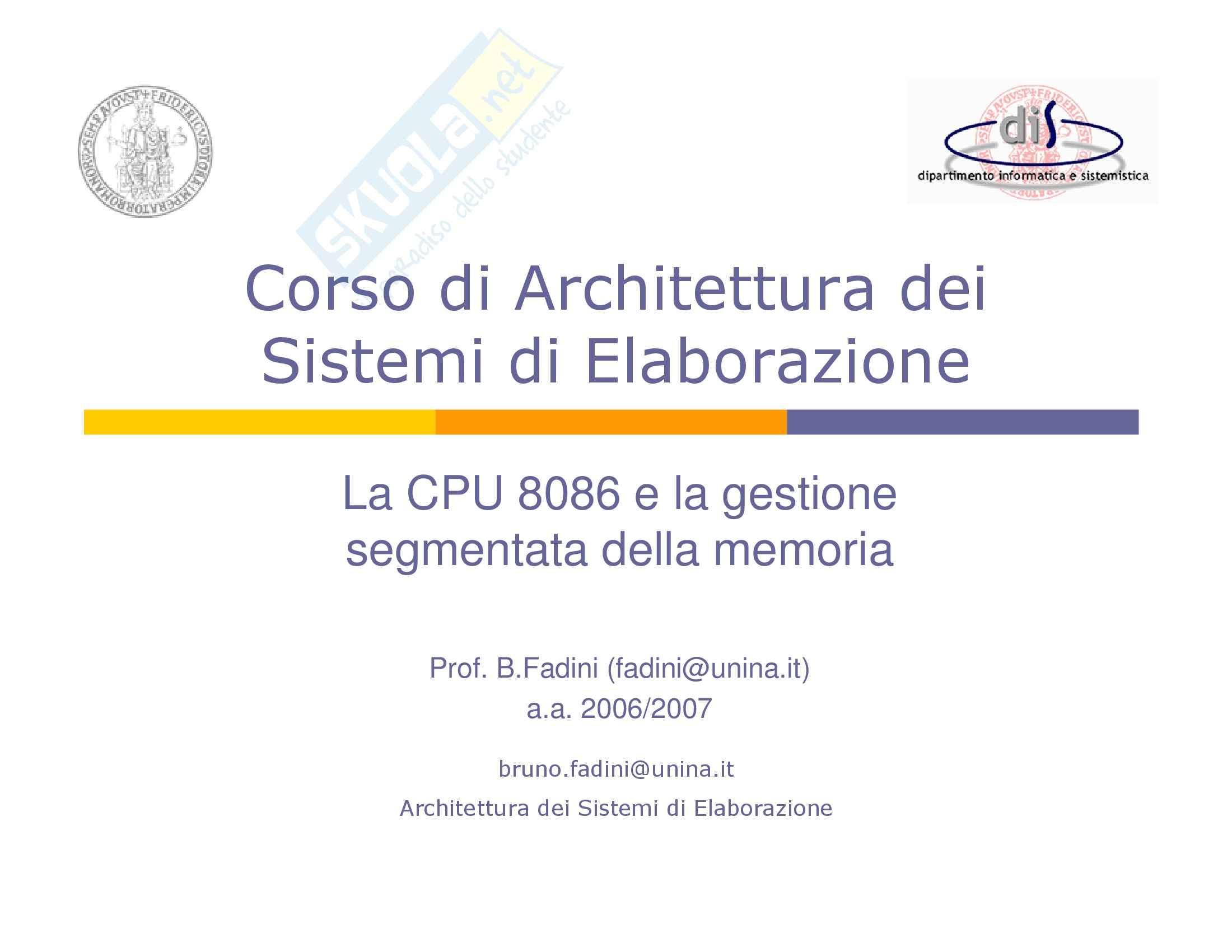 Architetture Sistemi Elaborazione – Intel Pag. 2