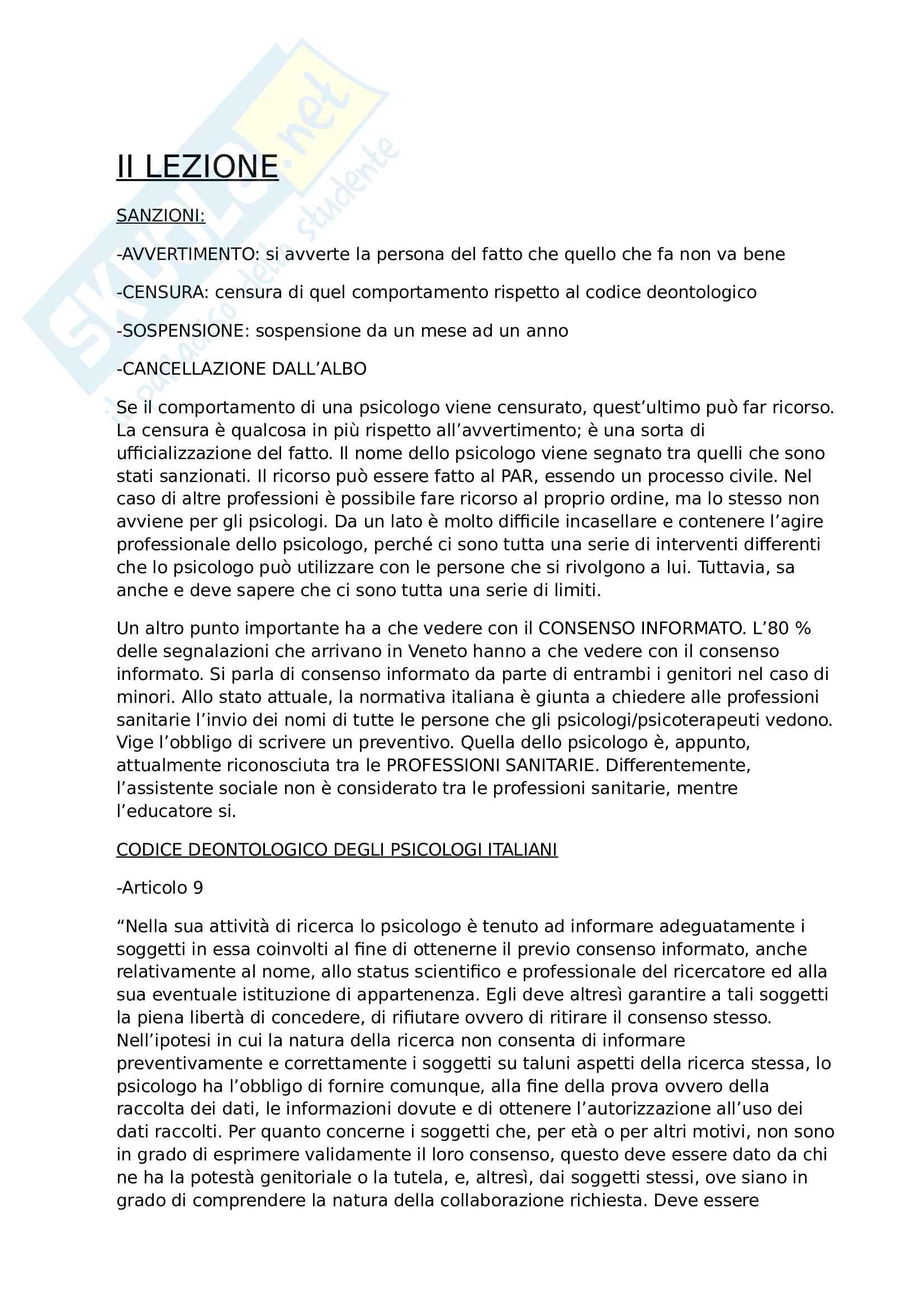 Appunti delle lezioni - Etica della ricerca e deontologia professionale Pag. 2