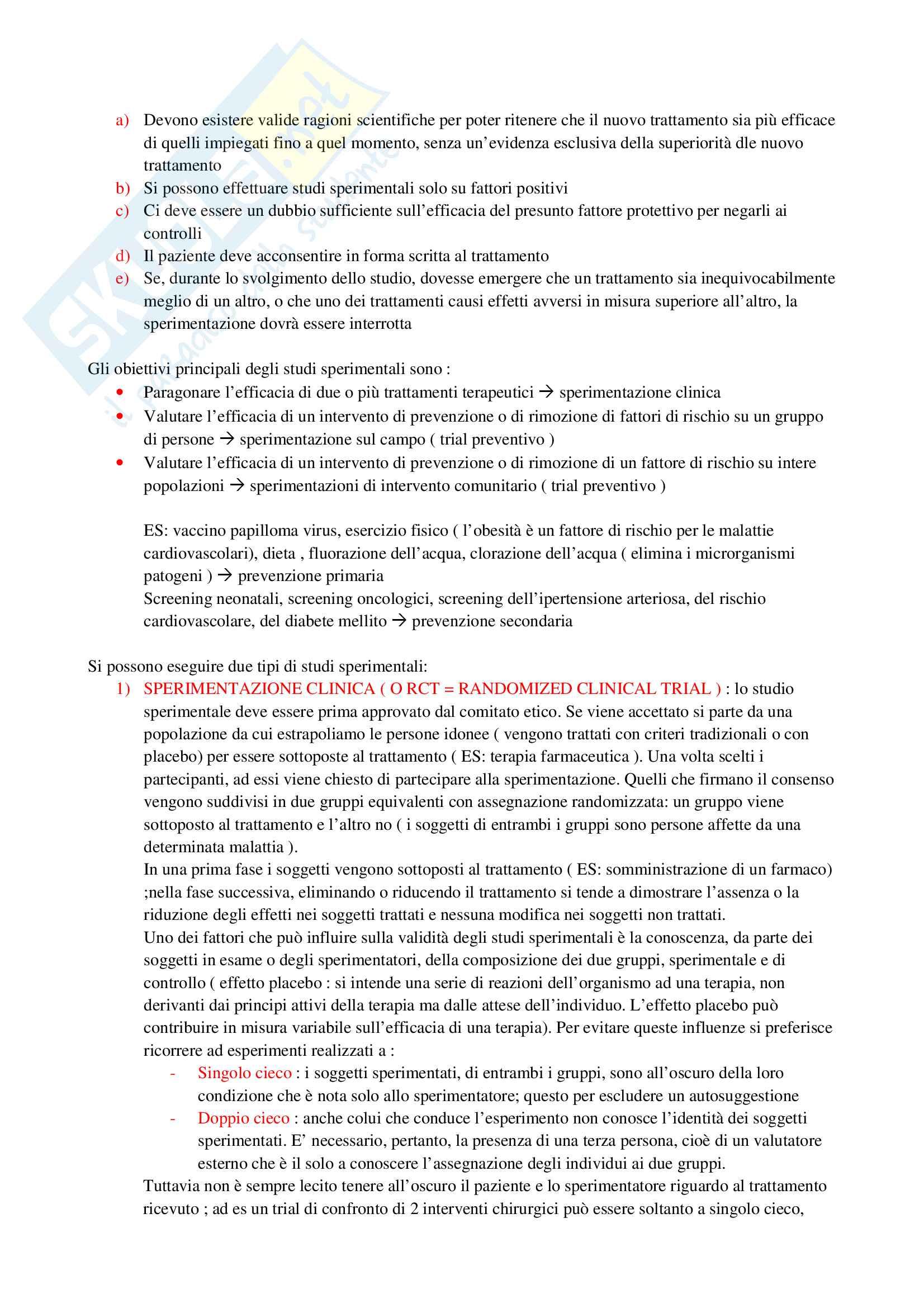 igiene :prevenzione e studi epidemiologici Pag. 21