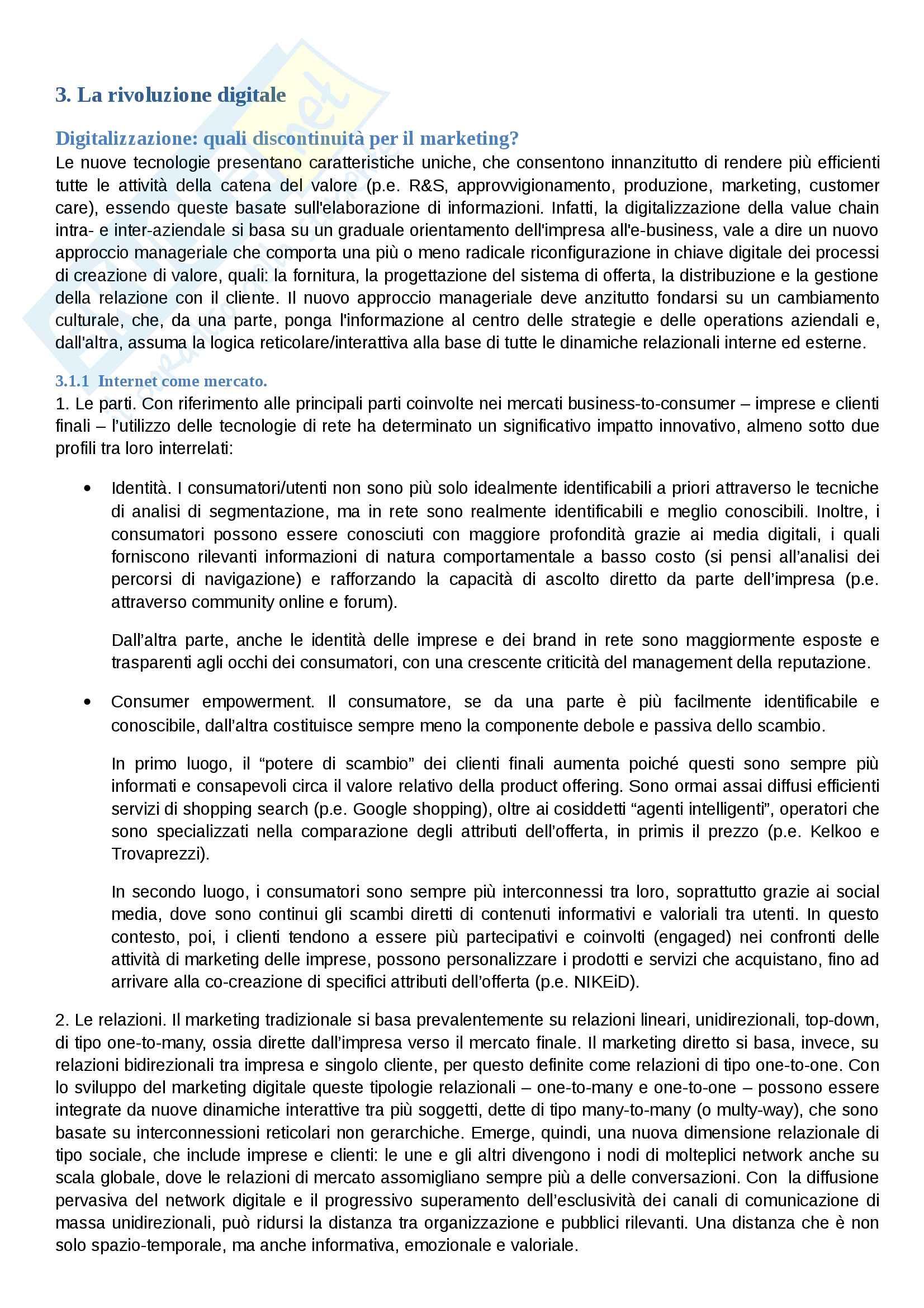 Riassunto esame Comunicazione Aziendale, prof. Cavallone, libro consigliato Marketing: il Management orientato al mercato, Mattiacci e Pastore