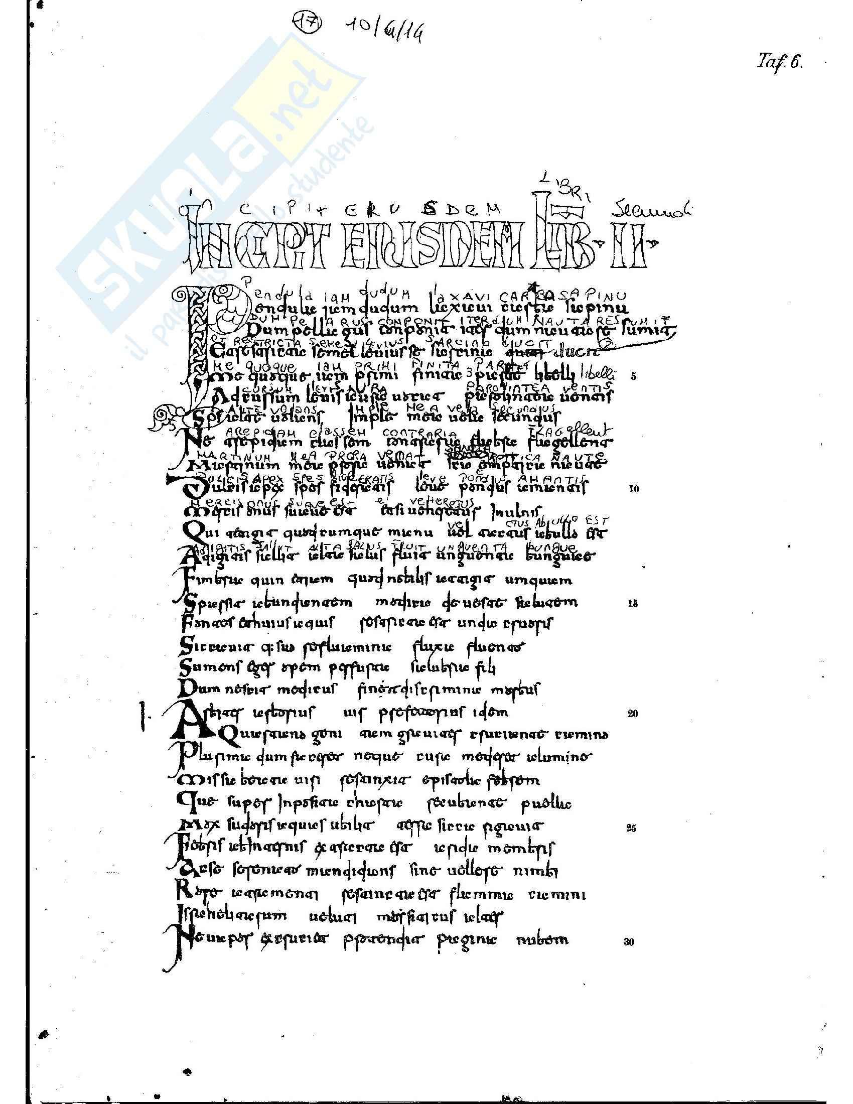 Tavole di esercitazione, Paleografia latina e diplomatica Pag. 11