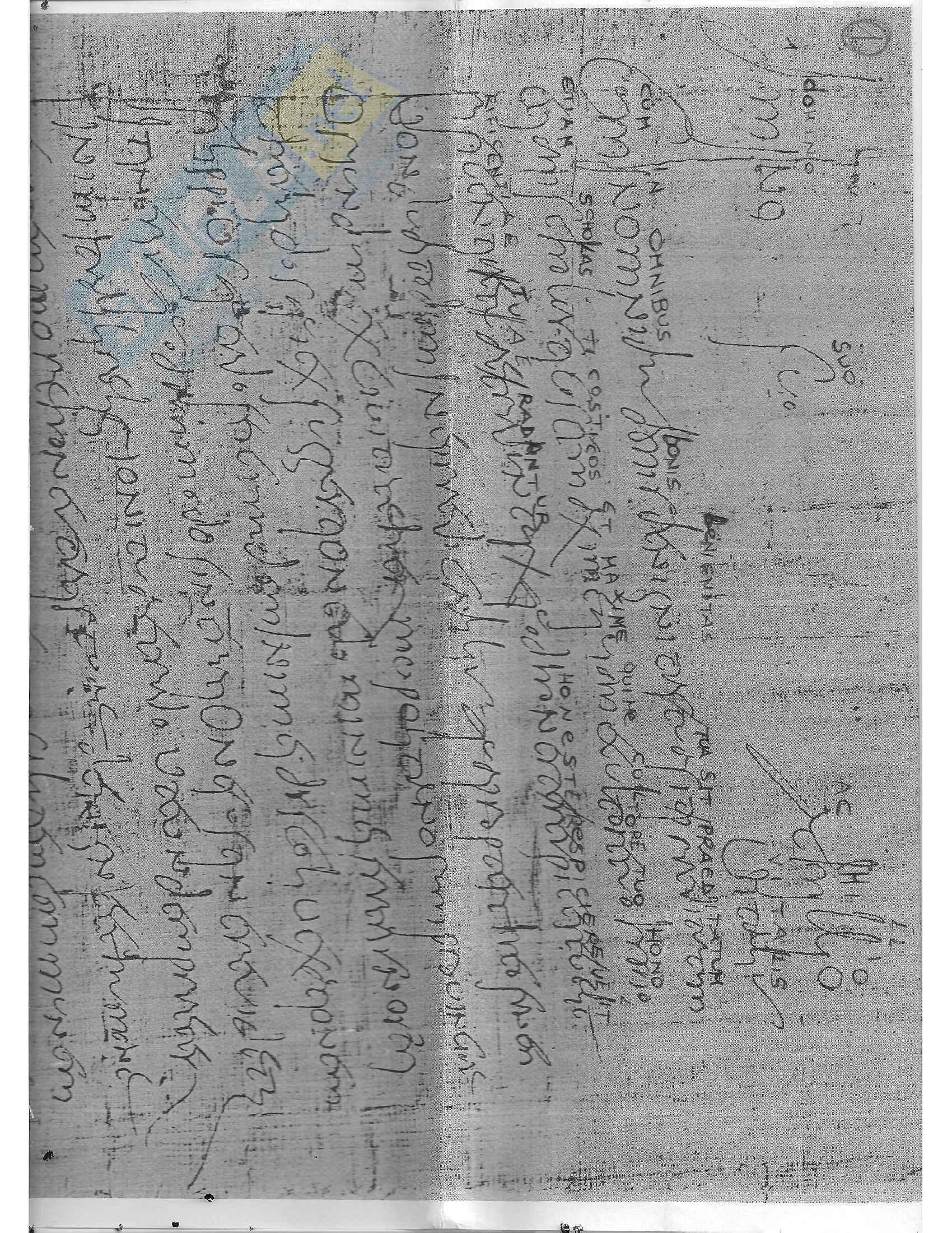 Tavole di esercitazione, Paleografia latina e diplomatica Pag. 2