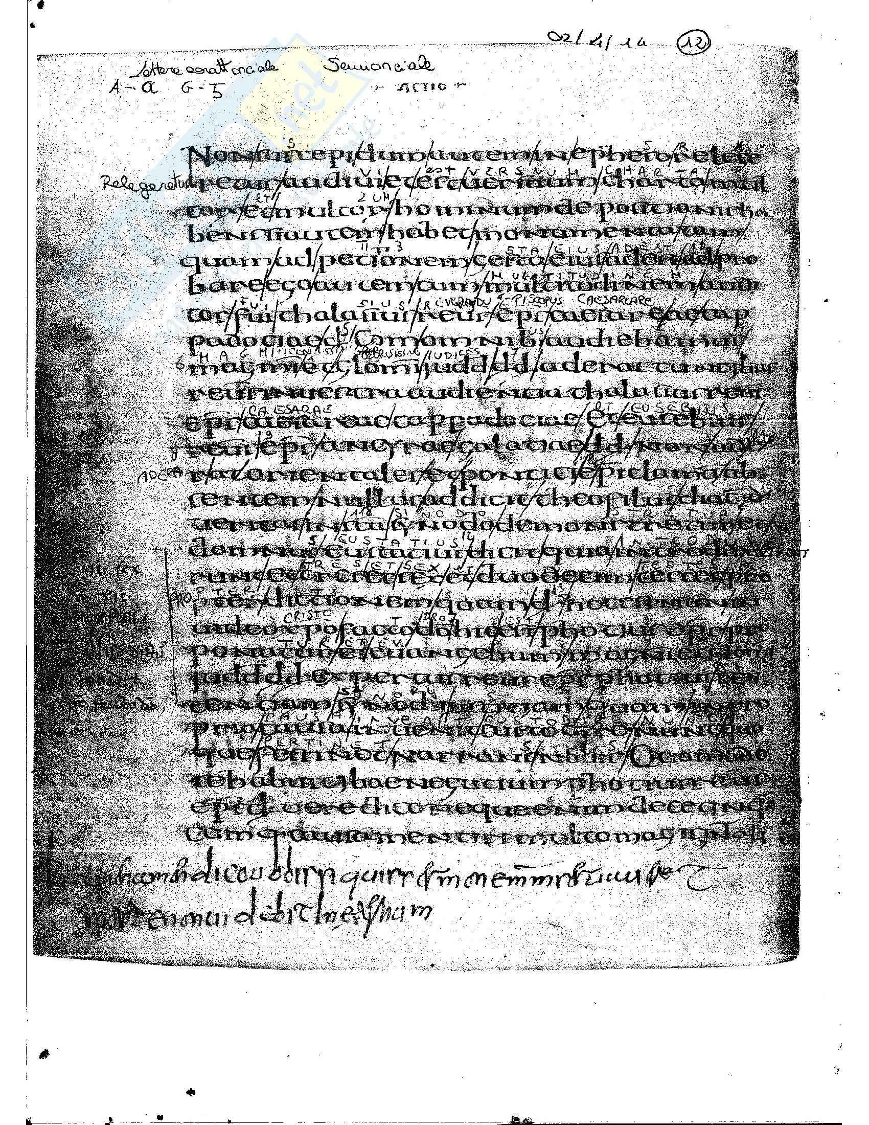 Tavole di esercitazione, Paleografia latina e diplomatica Pag. 26