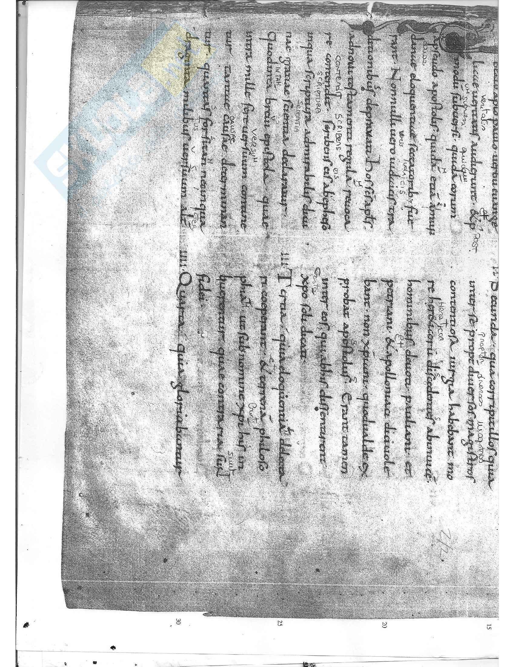 Tavole di esercitazione, Paleografia latina e diplomatica Pag. 31