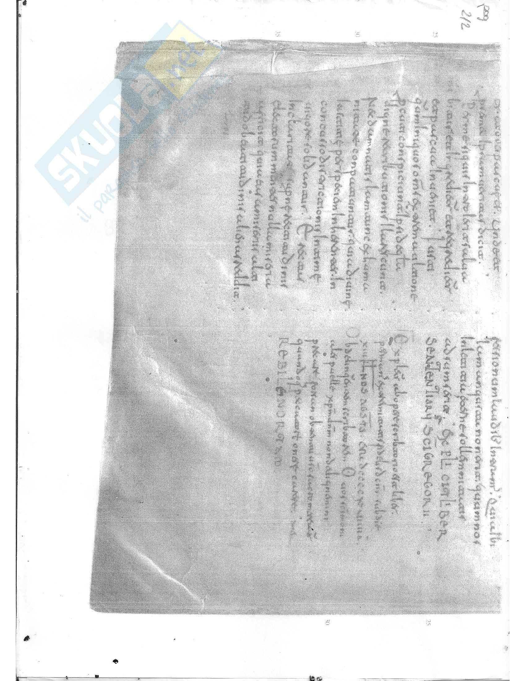 Tavole di esercitazione, Paleografia latina e diplomatica Pag. 6