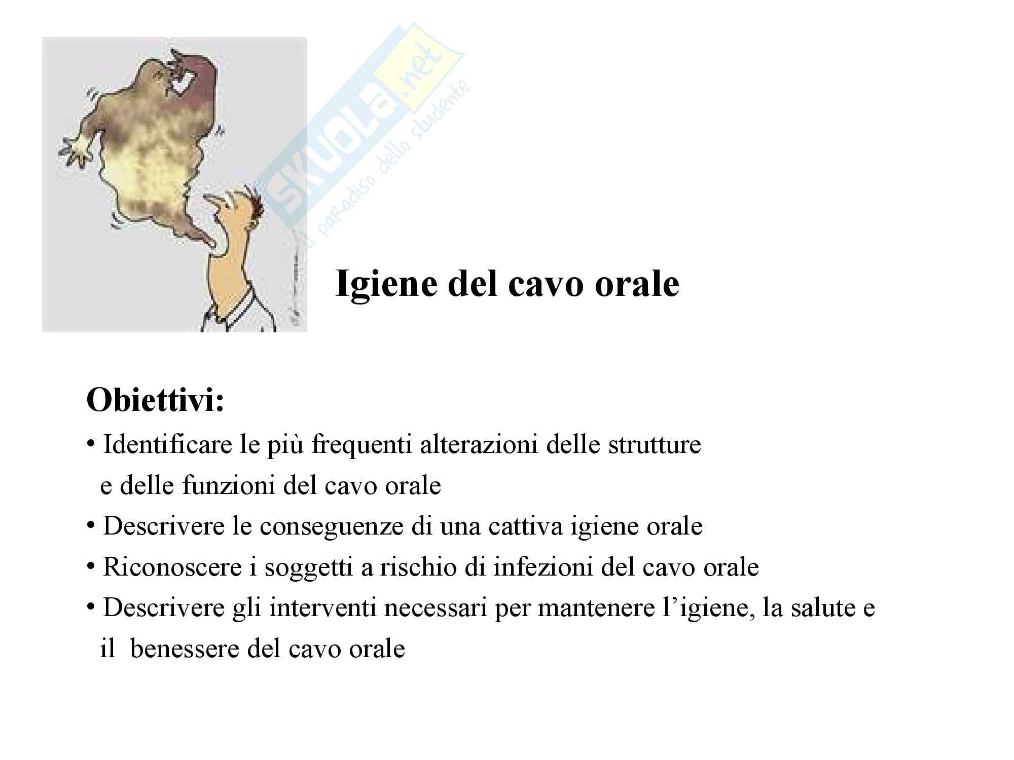Infermieristica Clinica I – Cavo orale
