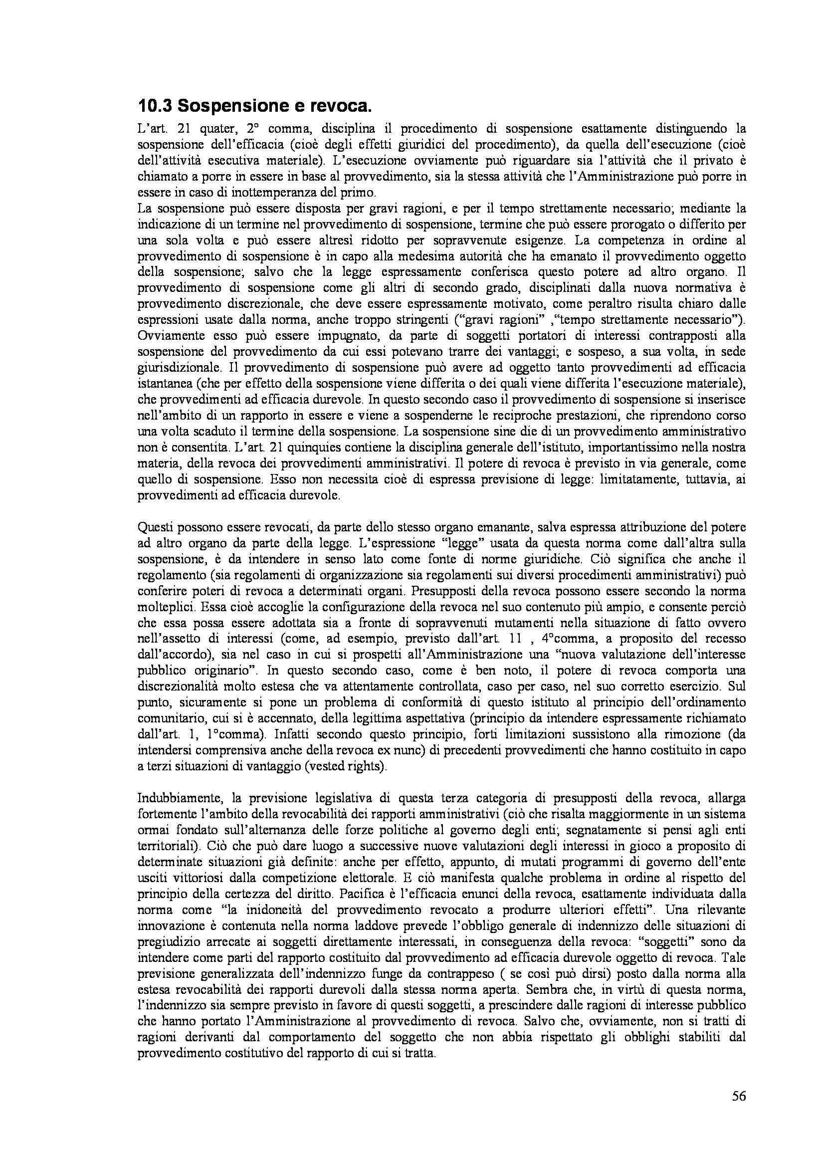 Riassunto esame Diritto Amministrativo, prof. Caldarera Pag. 56