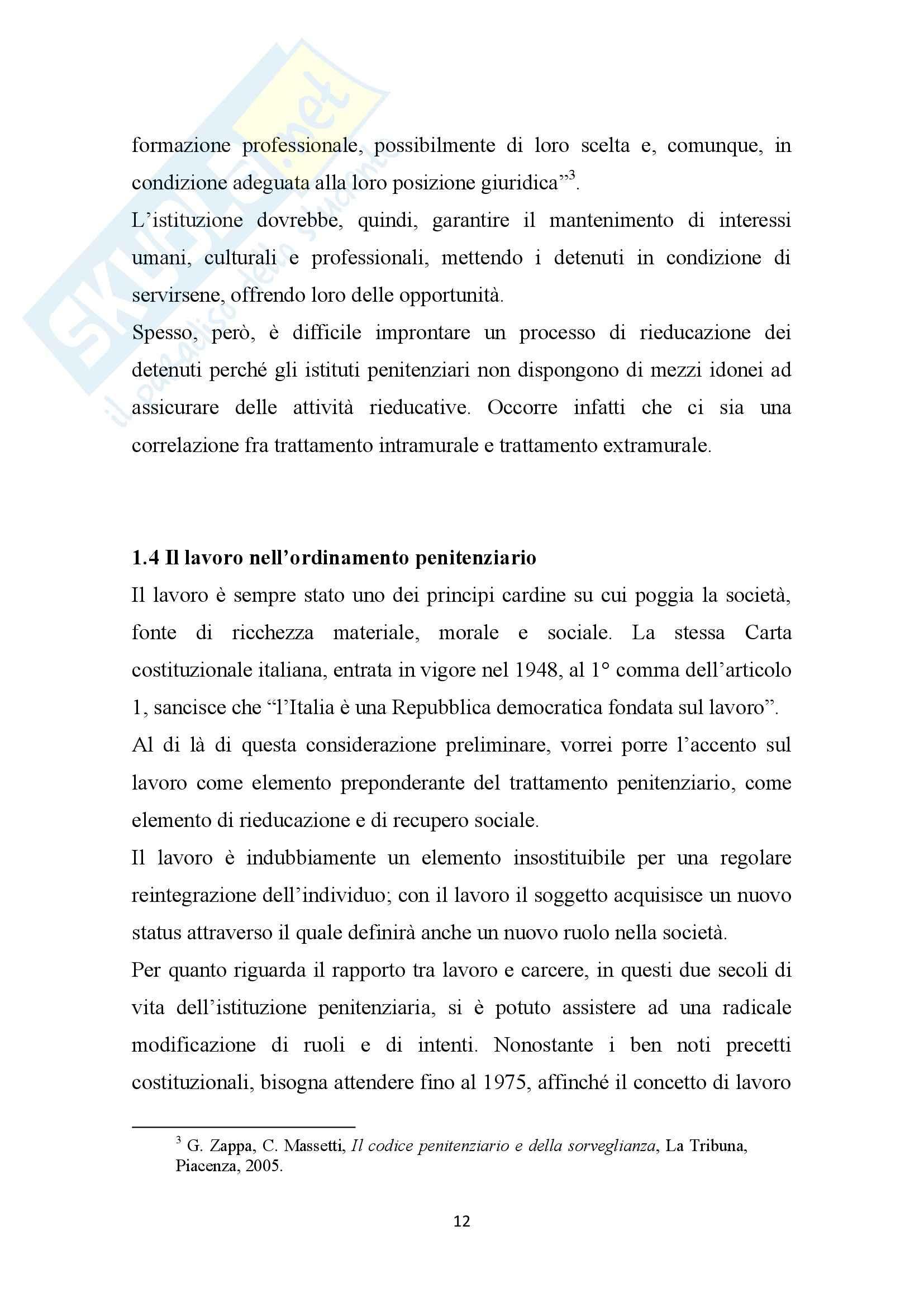 Tesi, Il carcere: luogo di riabilitazione o scuola di criminalità Pag. 16