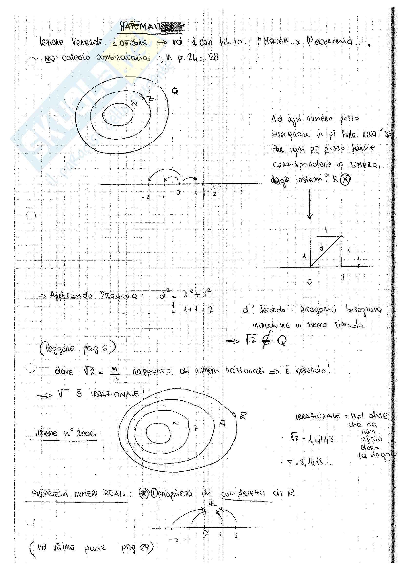 Matematica per l'azienda (1° parte)