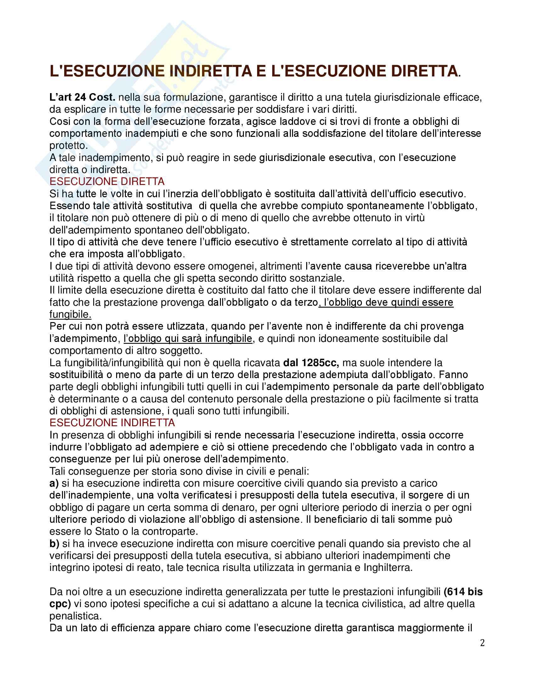 Riassunto esame Diritto processuale Civile, prof. Tedoldi, libro consigliato Il processo esecutivo, Vol. 3, Luiso Pag. 2