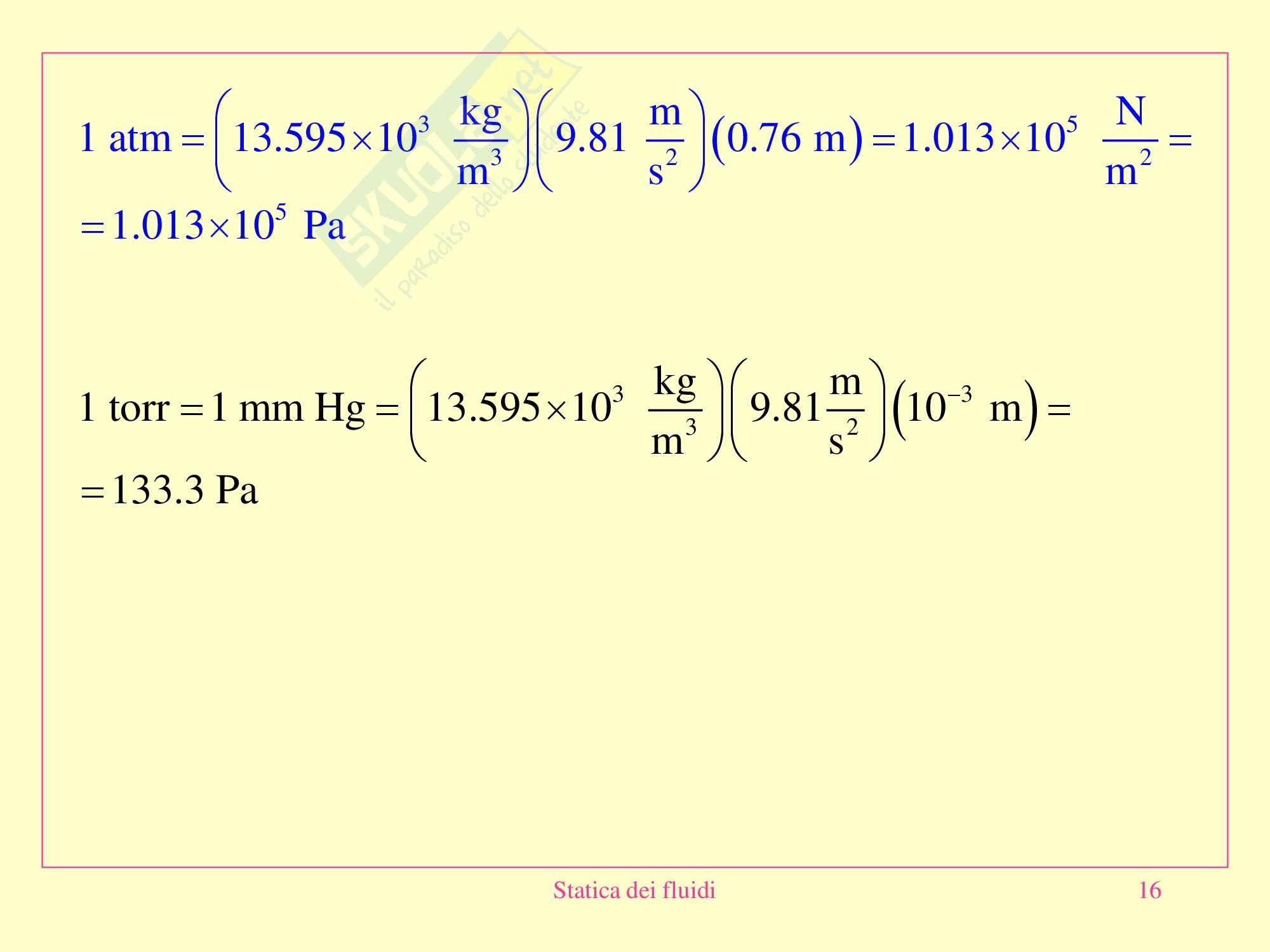 Fisica medica - statica dei fluidi Pag. 16