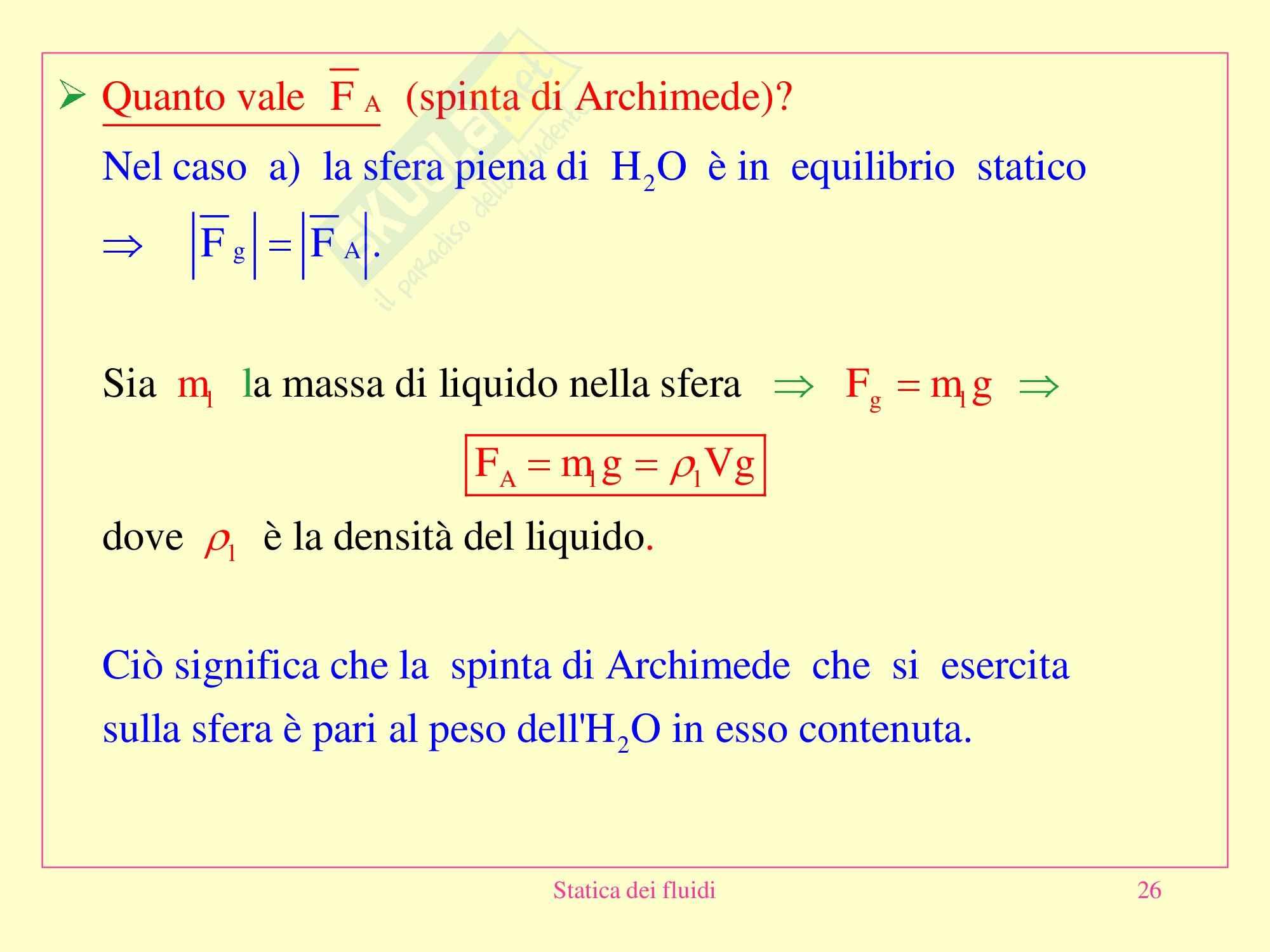 Fisica medica - statica dei fluidi Pag. 26