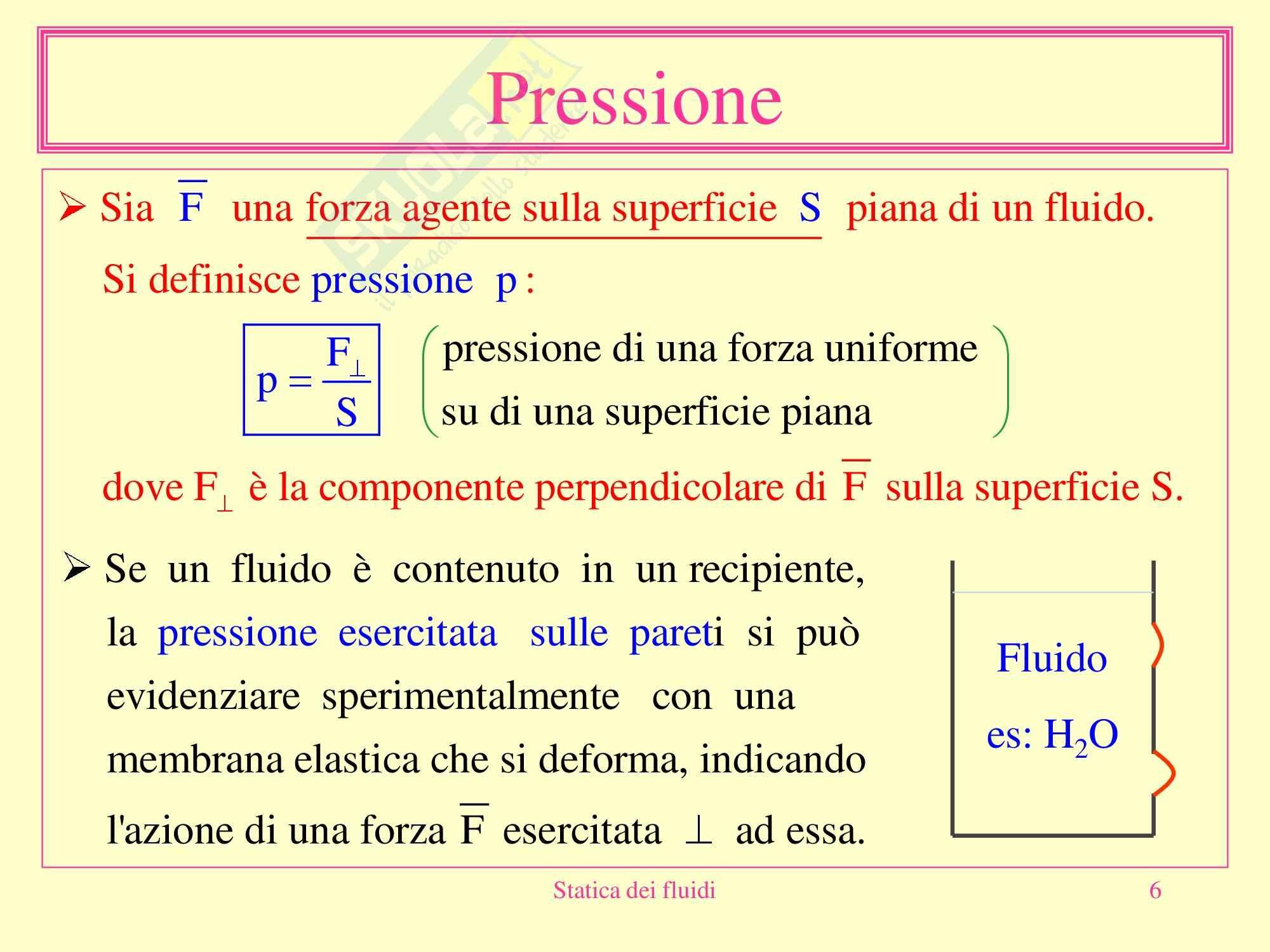 Fisica medica - statica dei fluidi Pag. 6