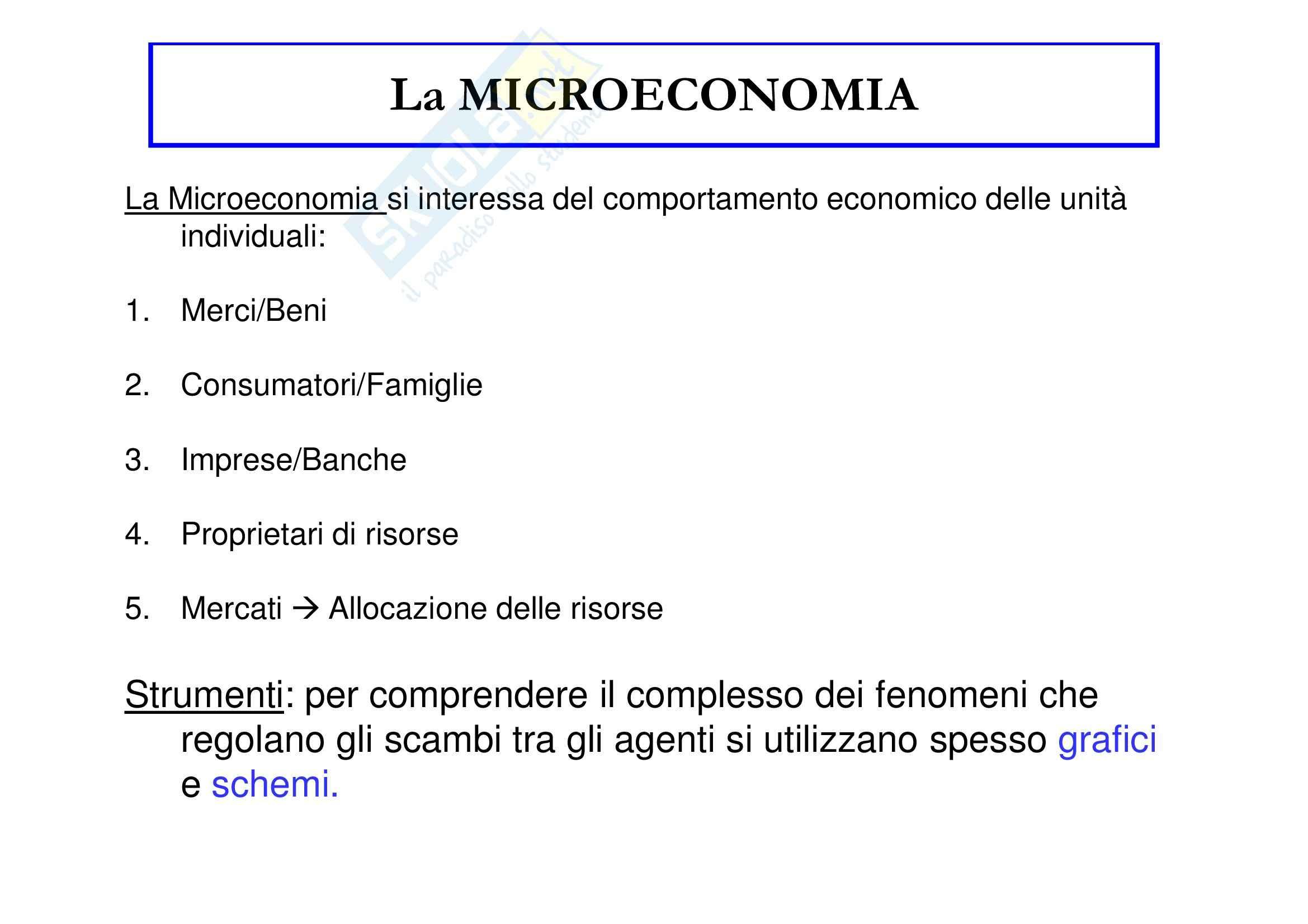 Economia politica - la microeconomia