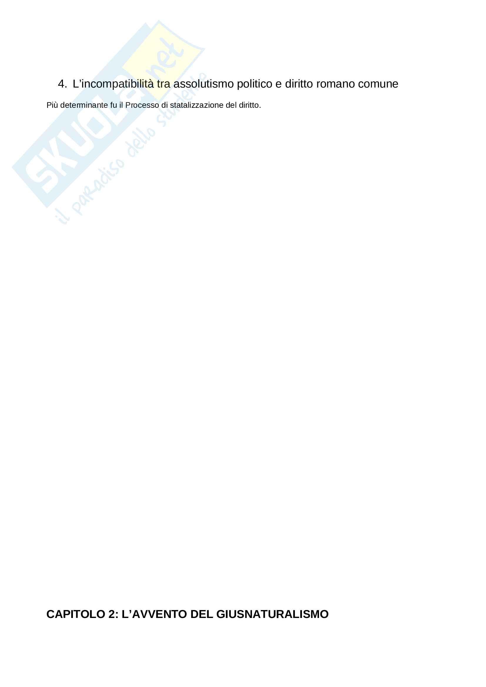 Riassunto esame Diritto Romano, prof. Solidoro, libro consigliato Dalla Crisi dello Ius Commune alle Codificazioni Moderne Pag. 2