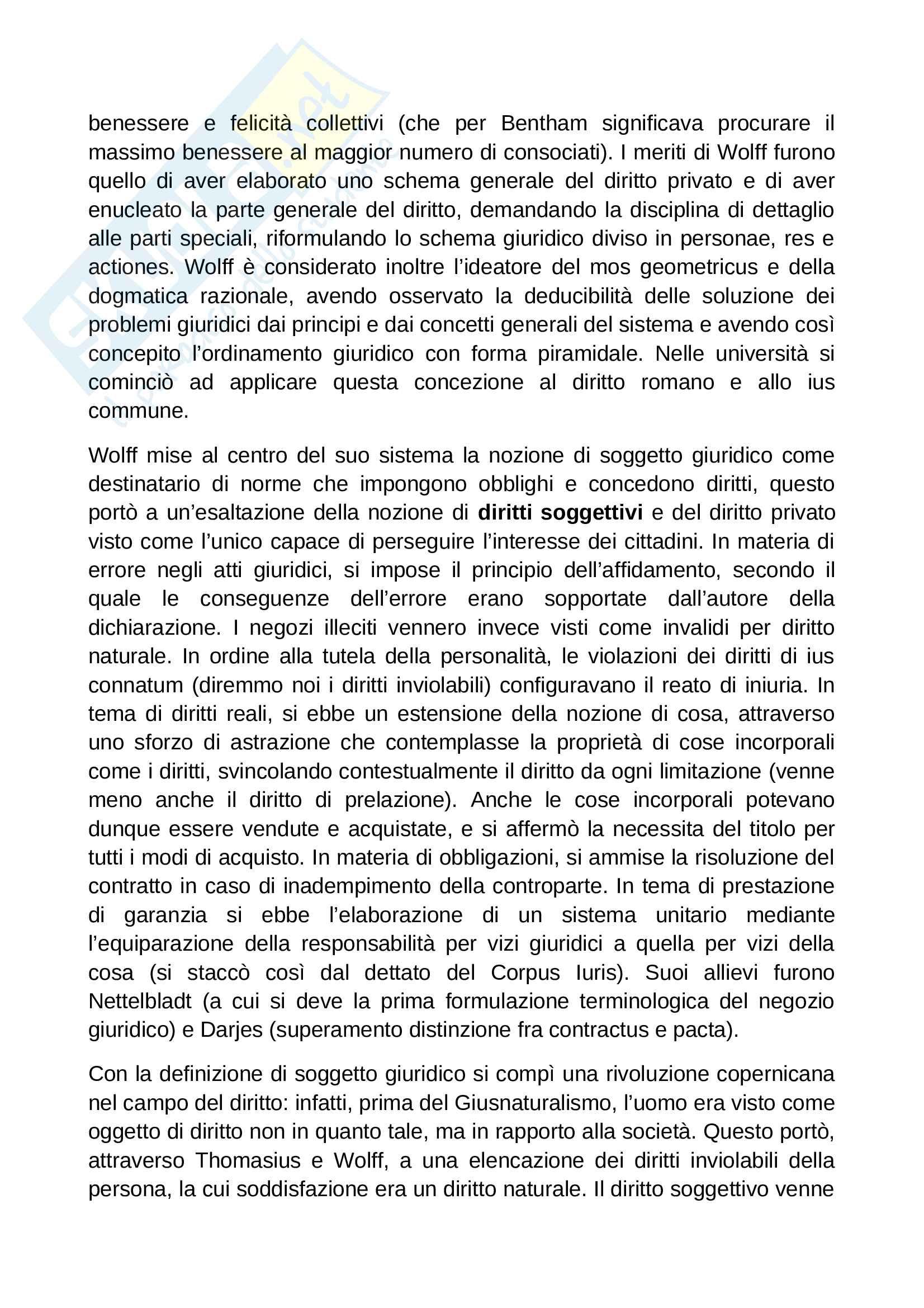 Riassunto esame Diritto Romano, prof. Solidoro, libro consigliato Dalla Crisi dello Ius Commune alle Codificazioni Moderne Pag. 6