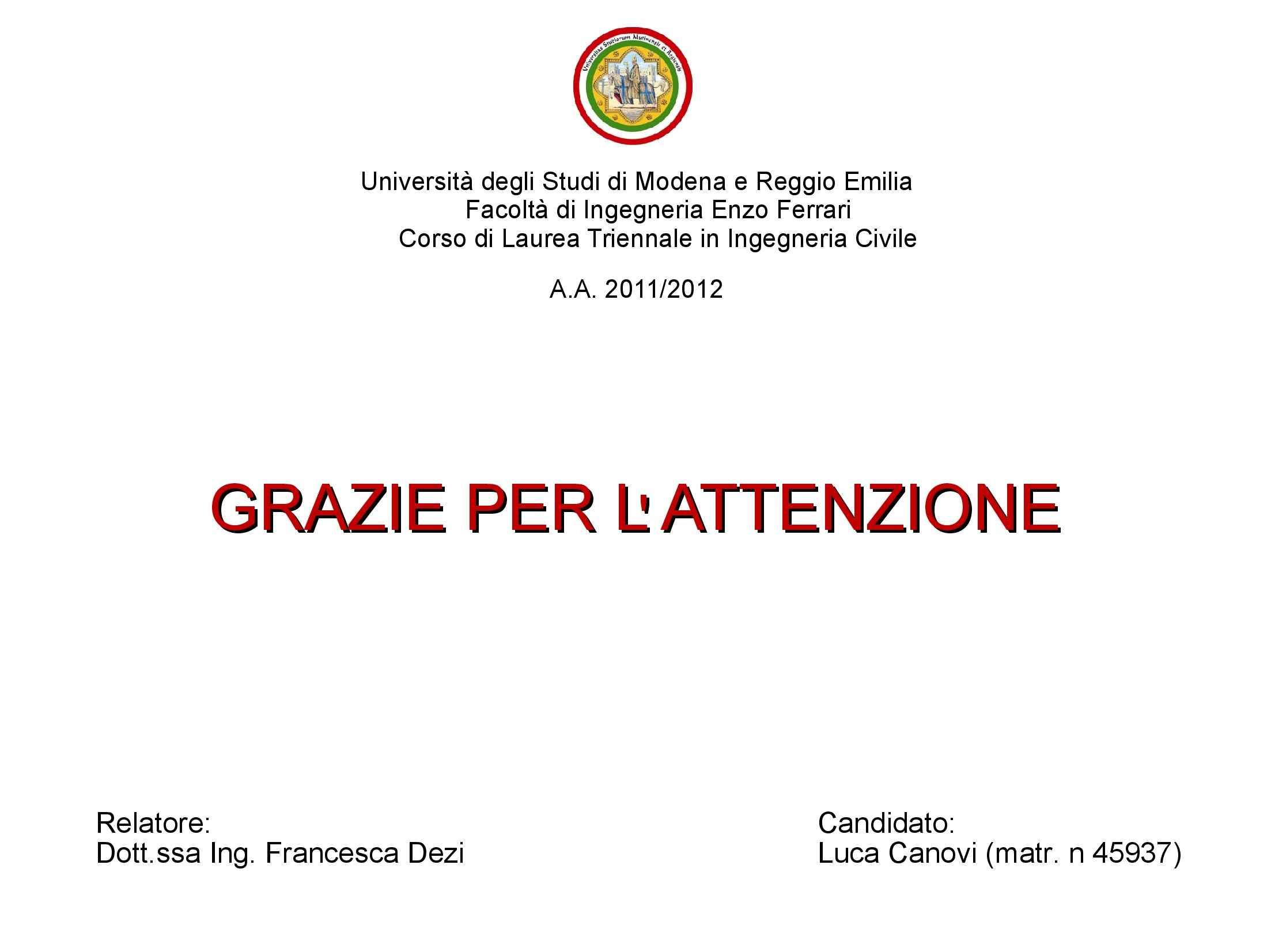 Presentazione Tesi - Cedimenti di rilevati e opere di preconsolidazione Pag. 21