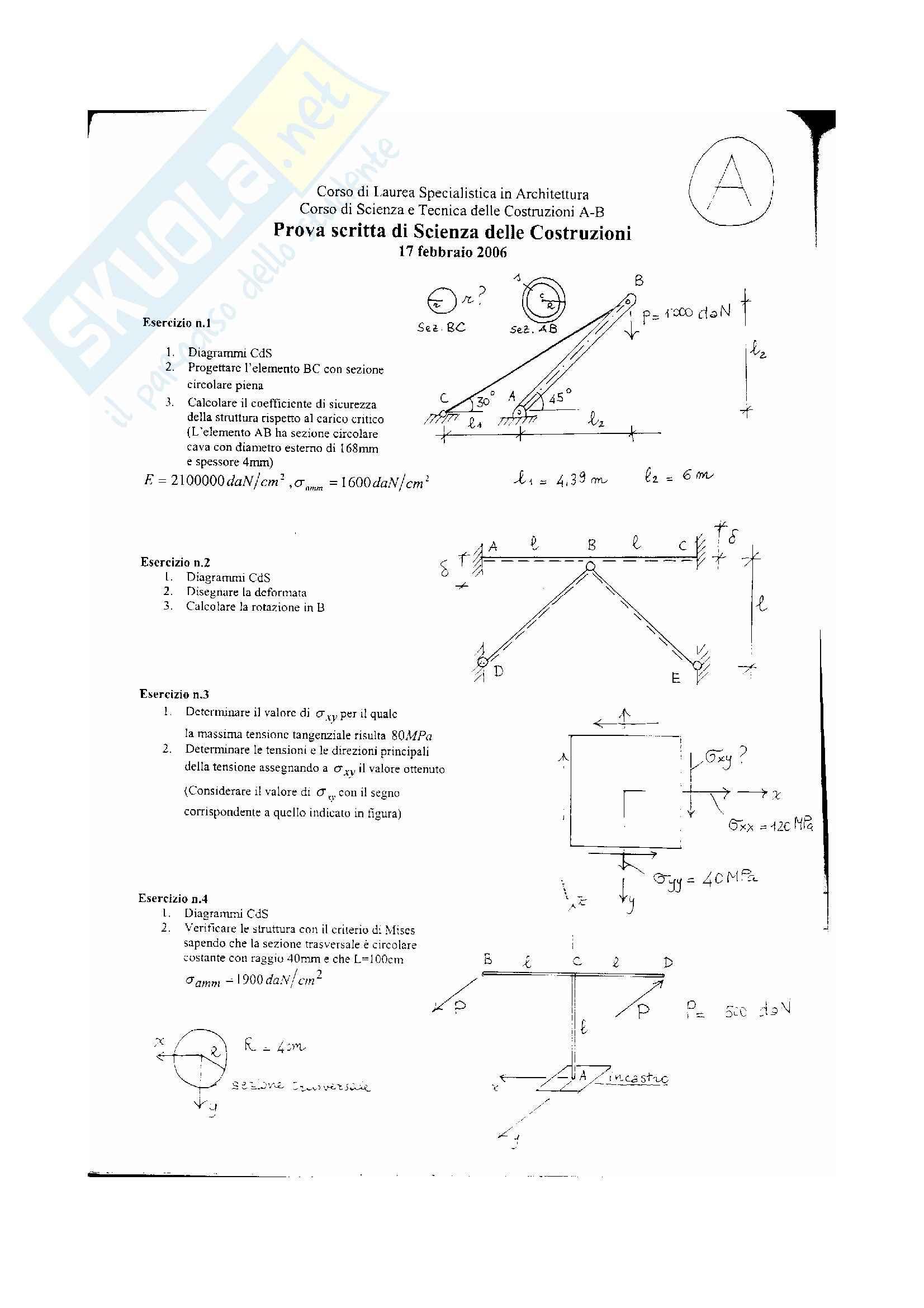 Scienza delle costruzioni - temi esame Pag. 36