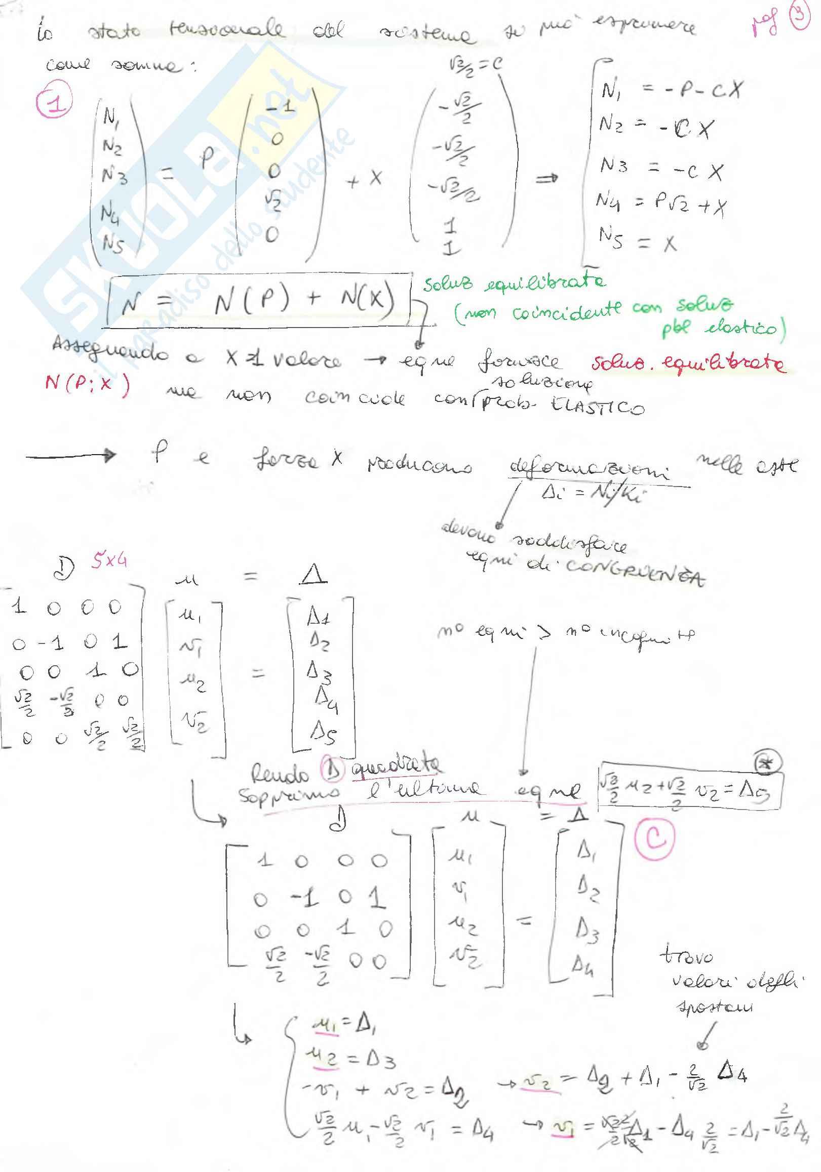 Riassunto esame Scienza delle costruzioni, prof. F. Vestroni, libro consigliato Scienza delle costruzioni, Casini, Vasta Pag. 11